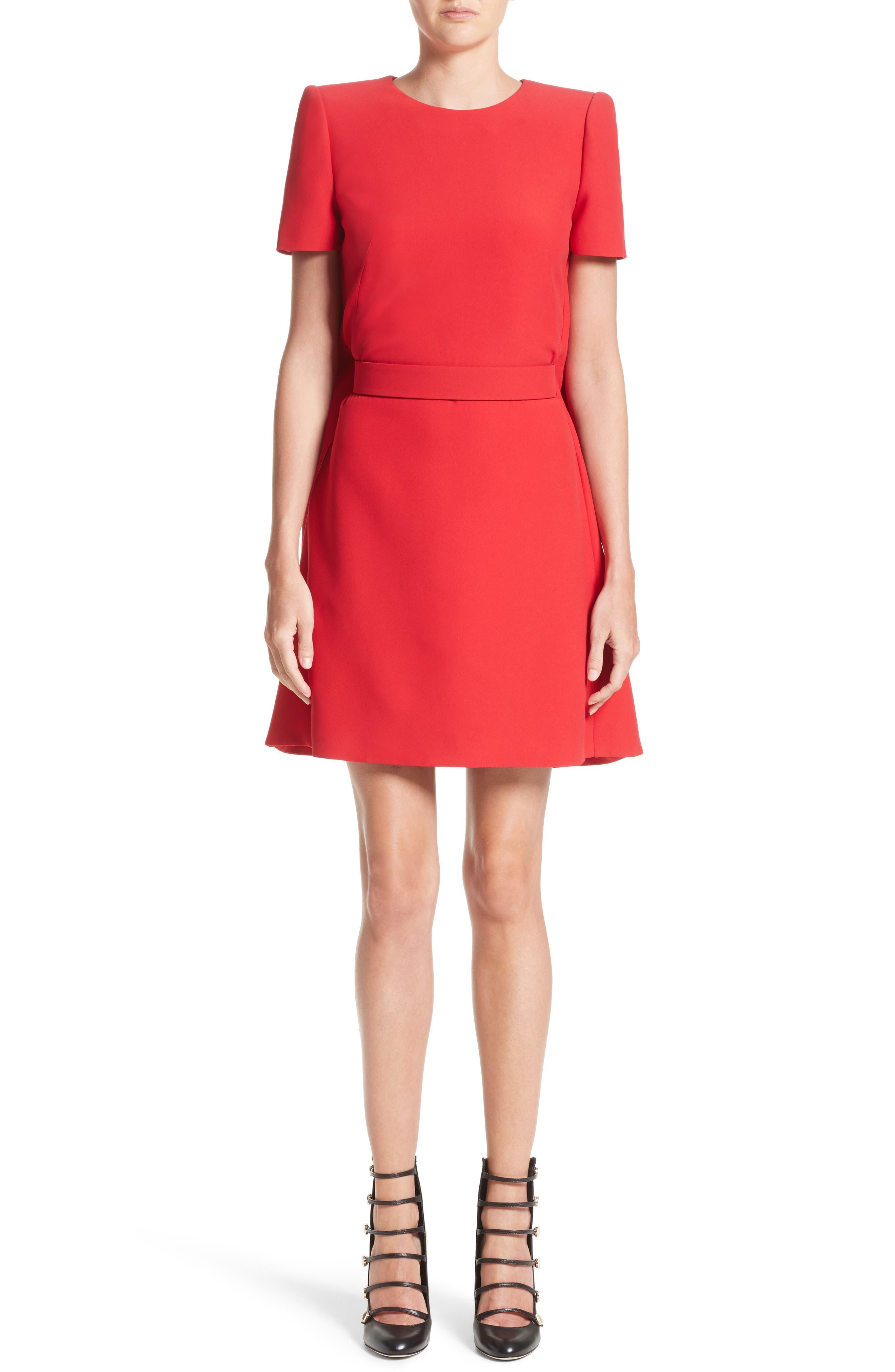 Alexander McQueen Wool & Silk Cape Minidress