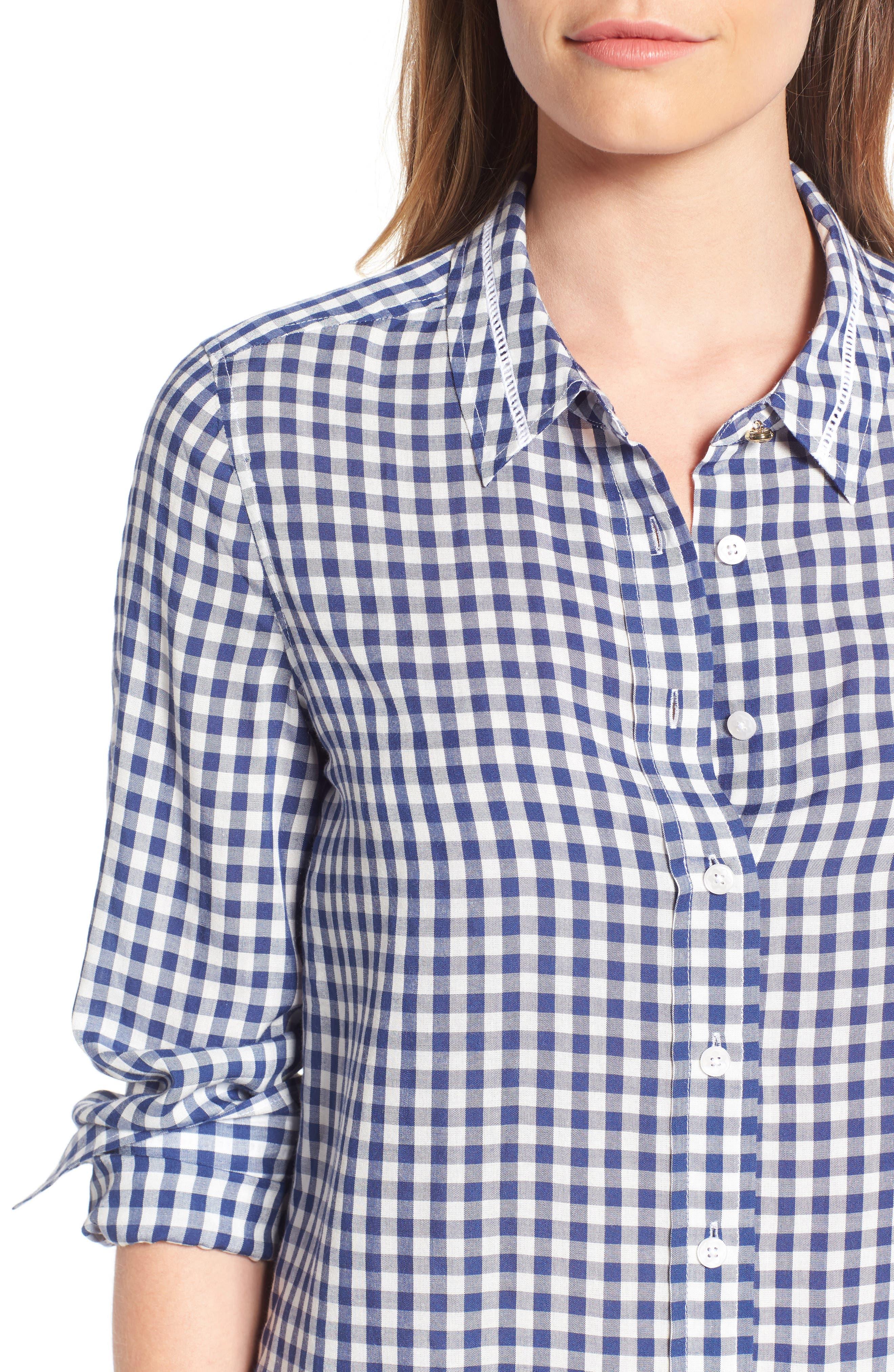 Alternate Image 4  - Draper James Elliot Gingham Shirt