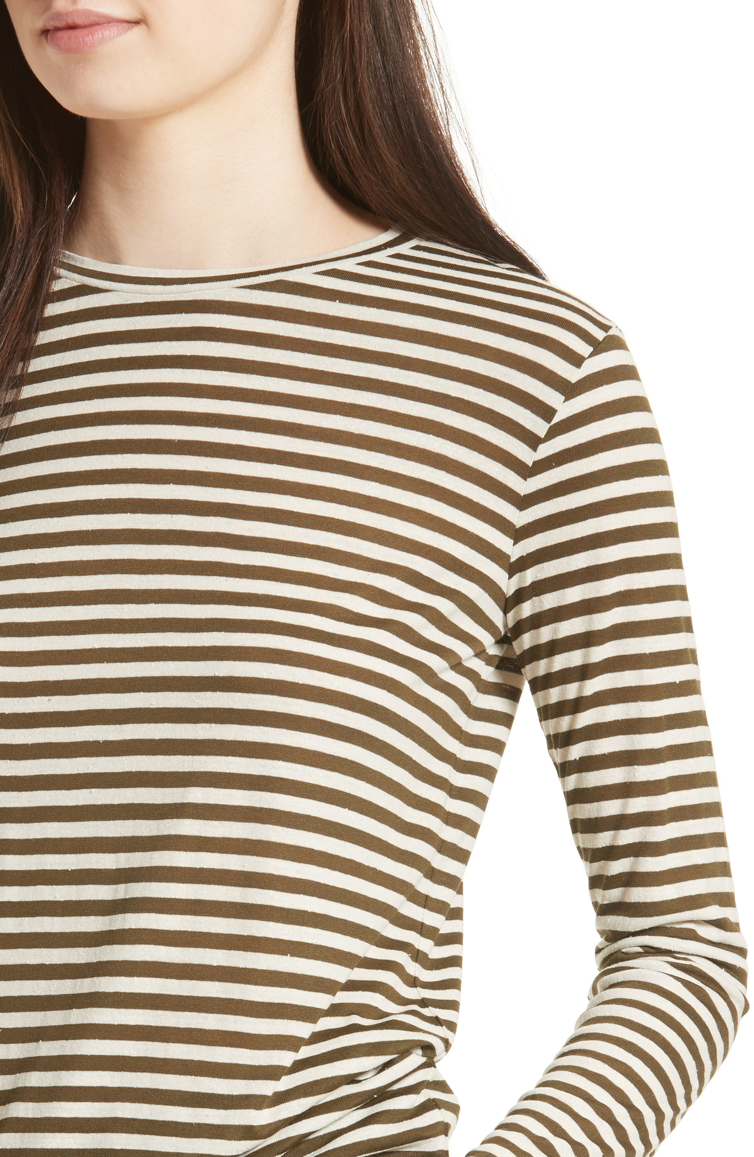 Alternate Image 4  - Vince Midi Stripe Long Sleeve Tee
