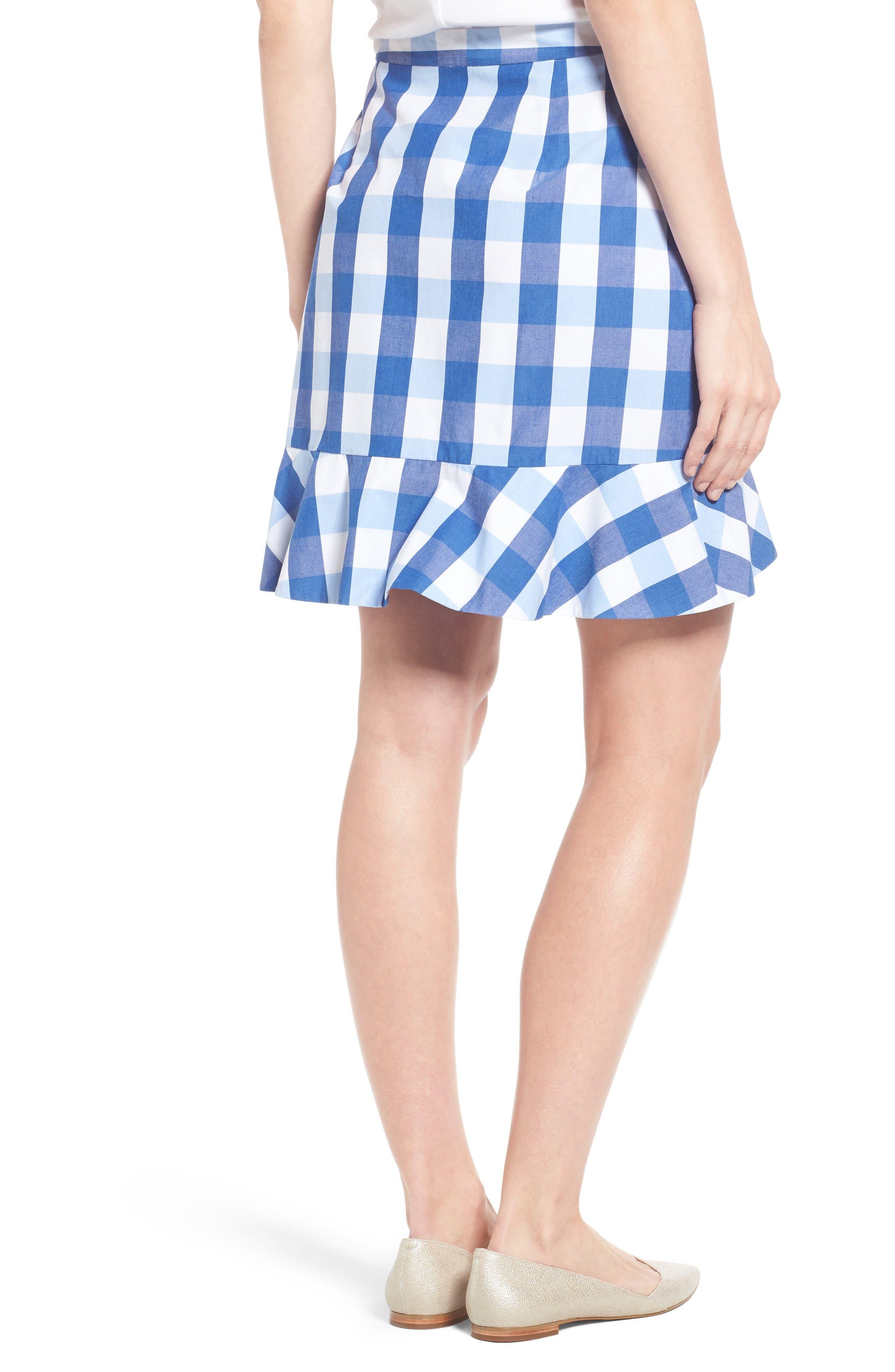 Alternate Image 2  - Draper James Check Miniskirt