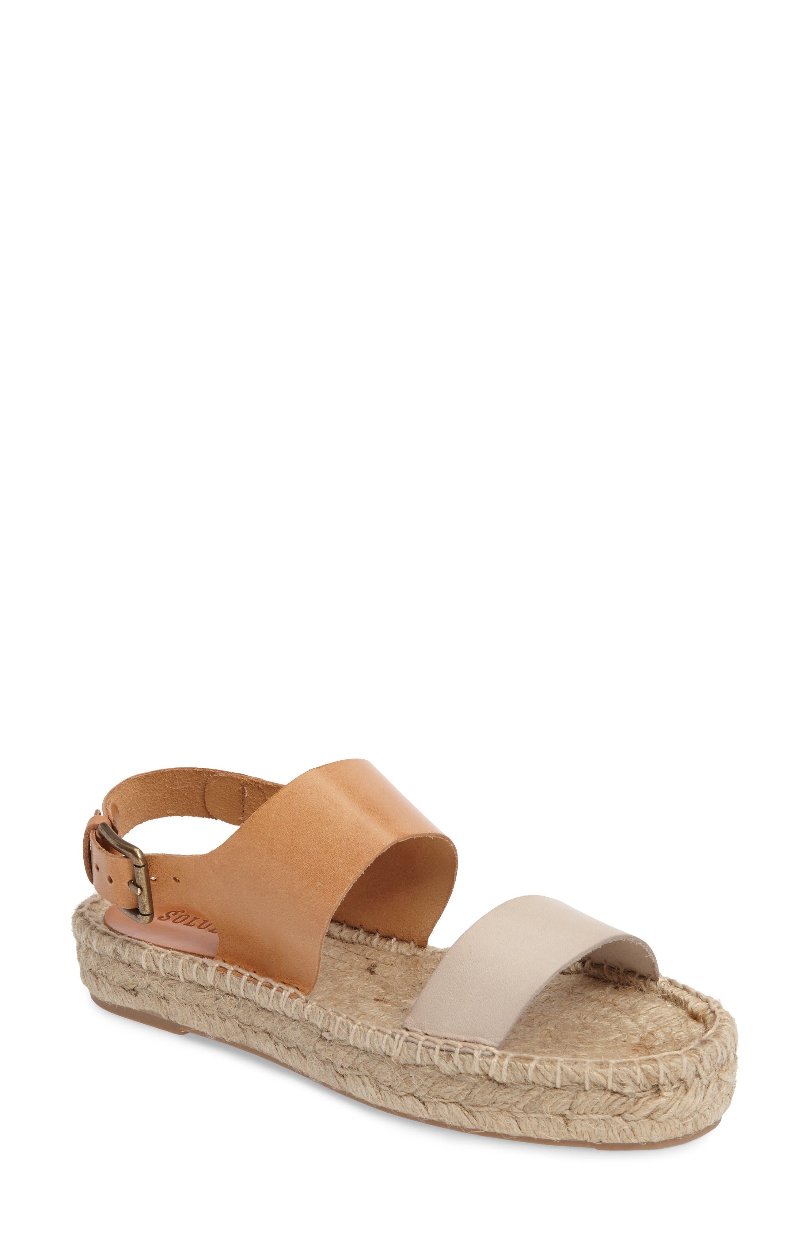 Alternate Image 1 Selected - Soludos Platform Espadrille Sandal (Women)