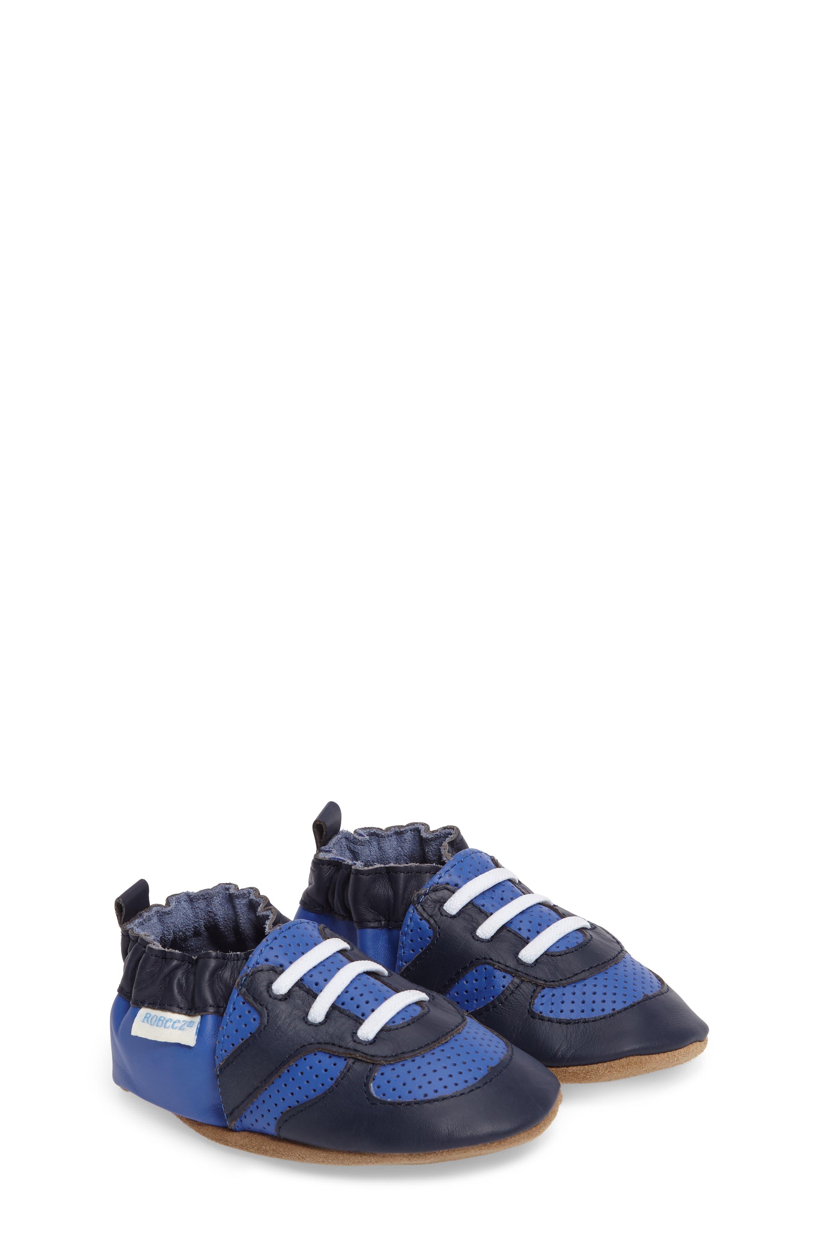 Alternate Image 1 Selected - Robeez® 'Super Sporty' Crib Shoe (Baby & Walker)