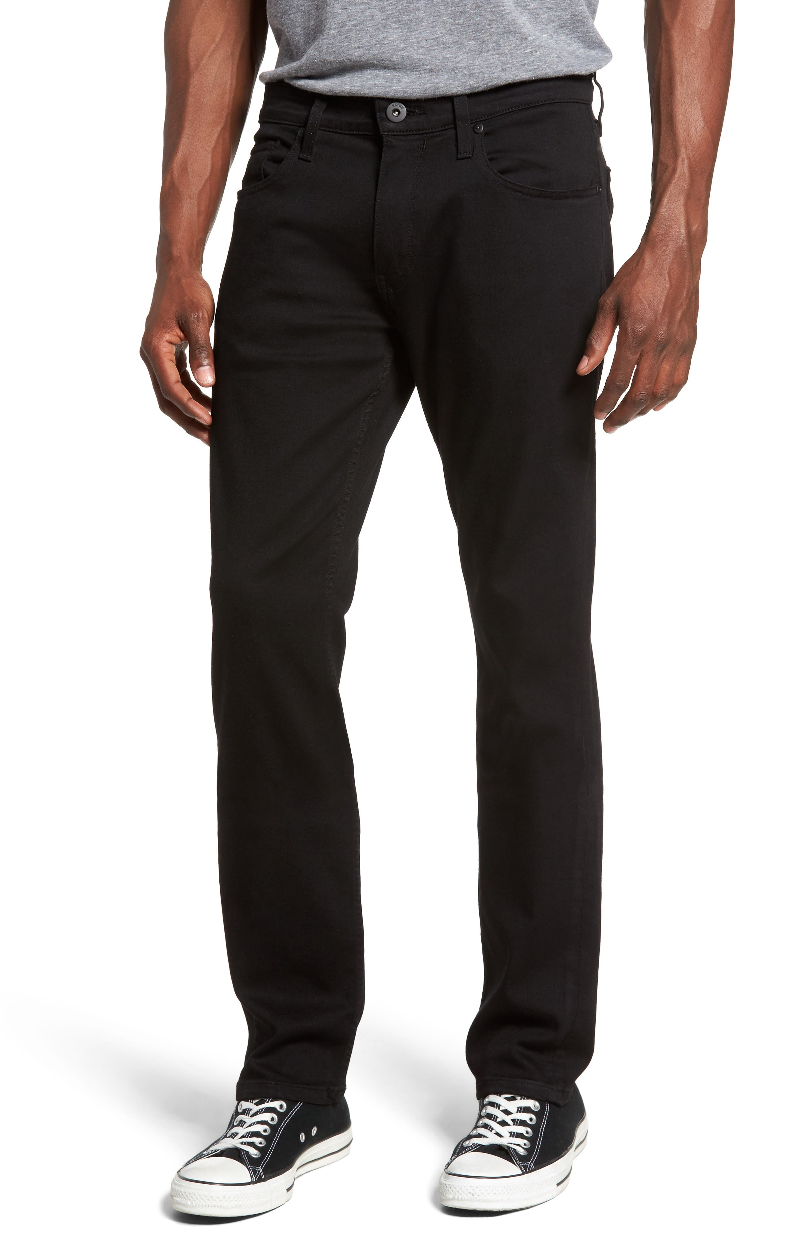 Main Image - PAIGE Federal Slim Straight Leg Jeans (Black Shadow)