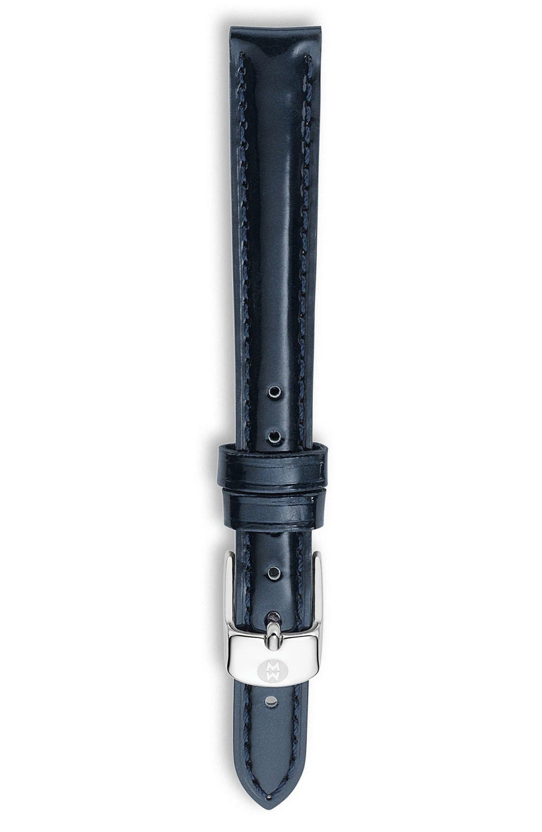 Main Image - MICHELE 12mm Patent Leather Watch Strap