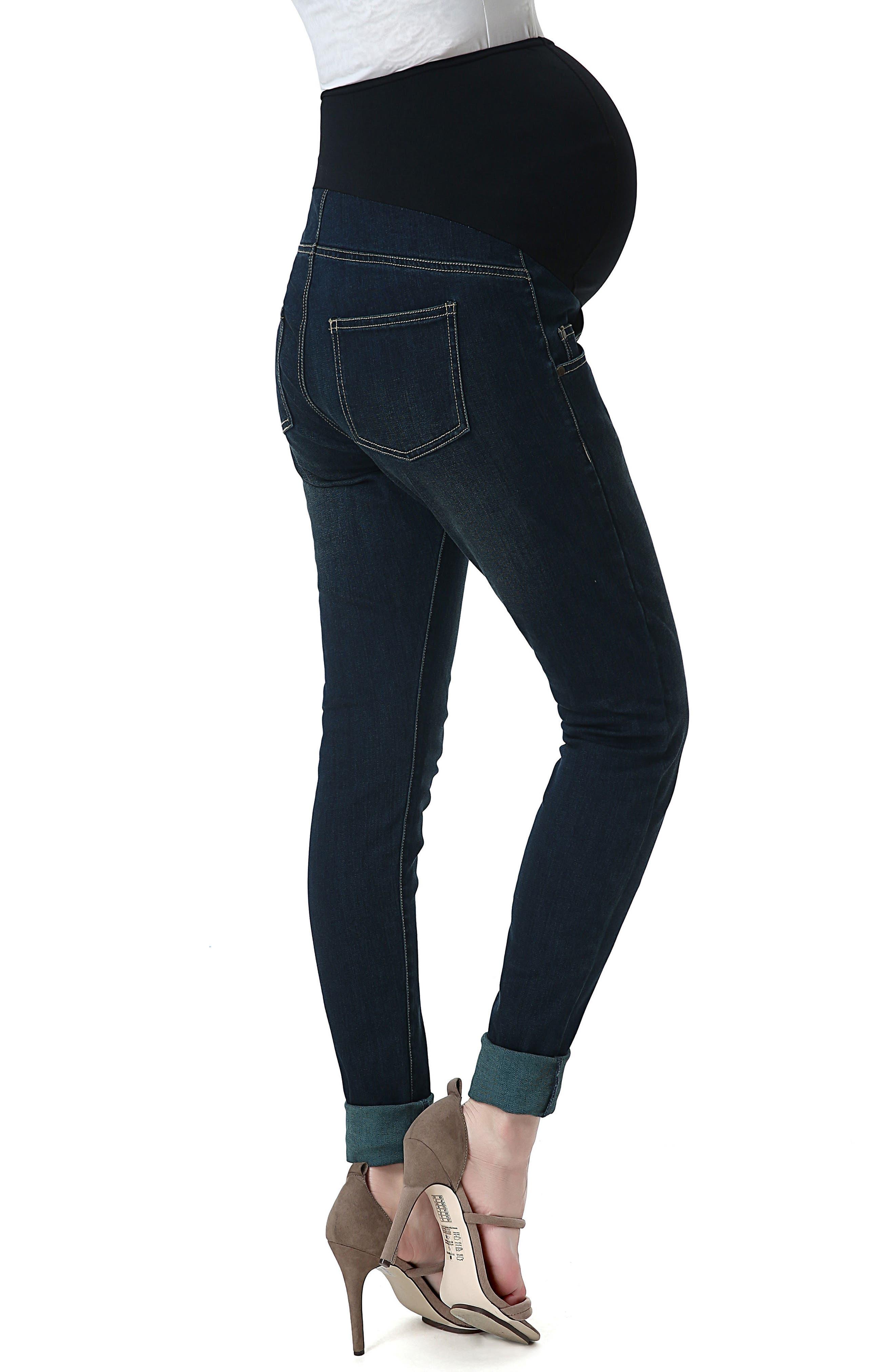 Alternate Image 2  - Kimi and Kai Rae Maternity Skinny Jeans