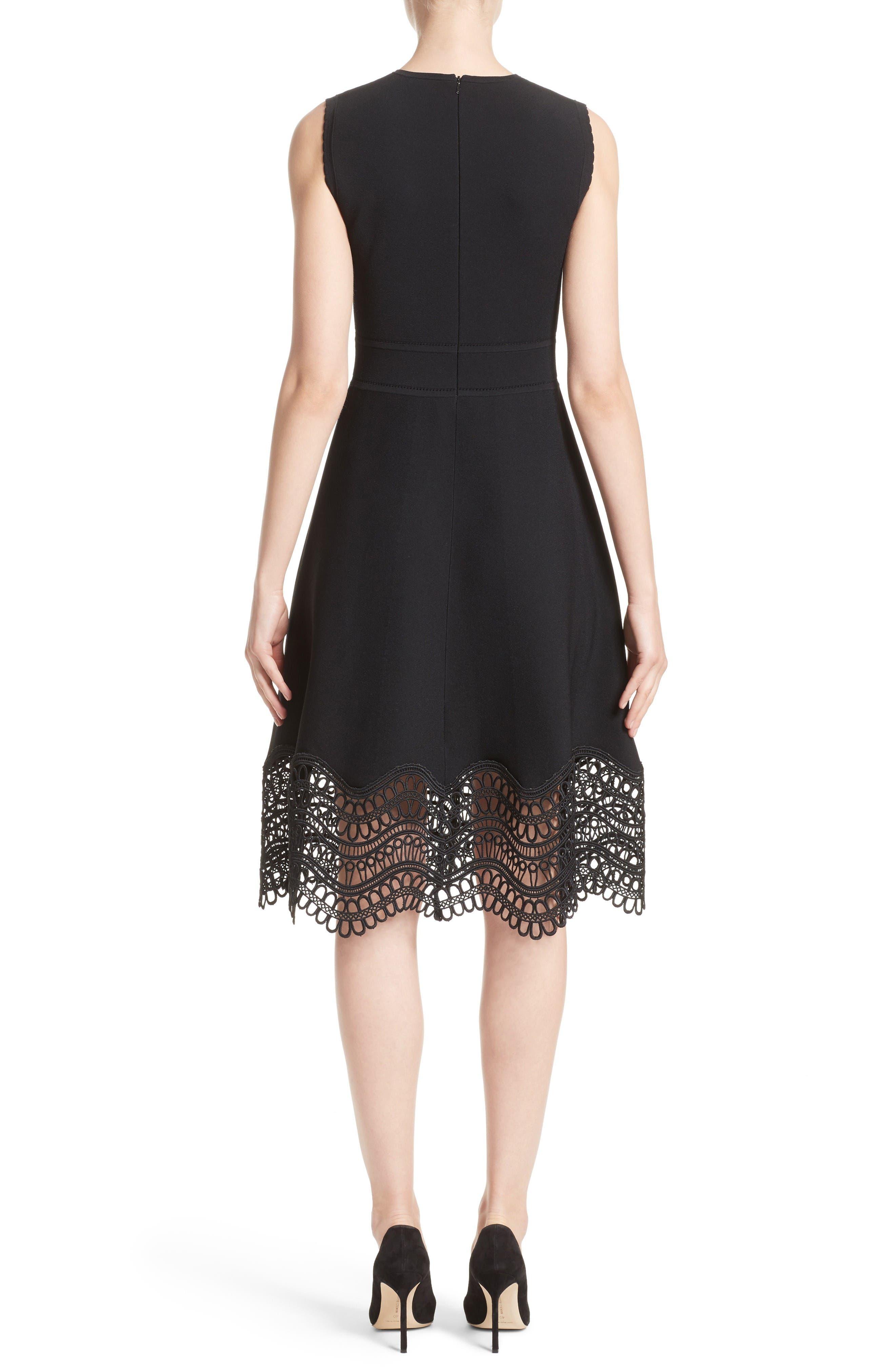 Alternate Image 2  - Lela Rose Lace Hem Dress