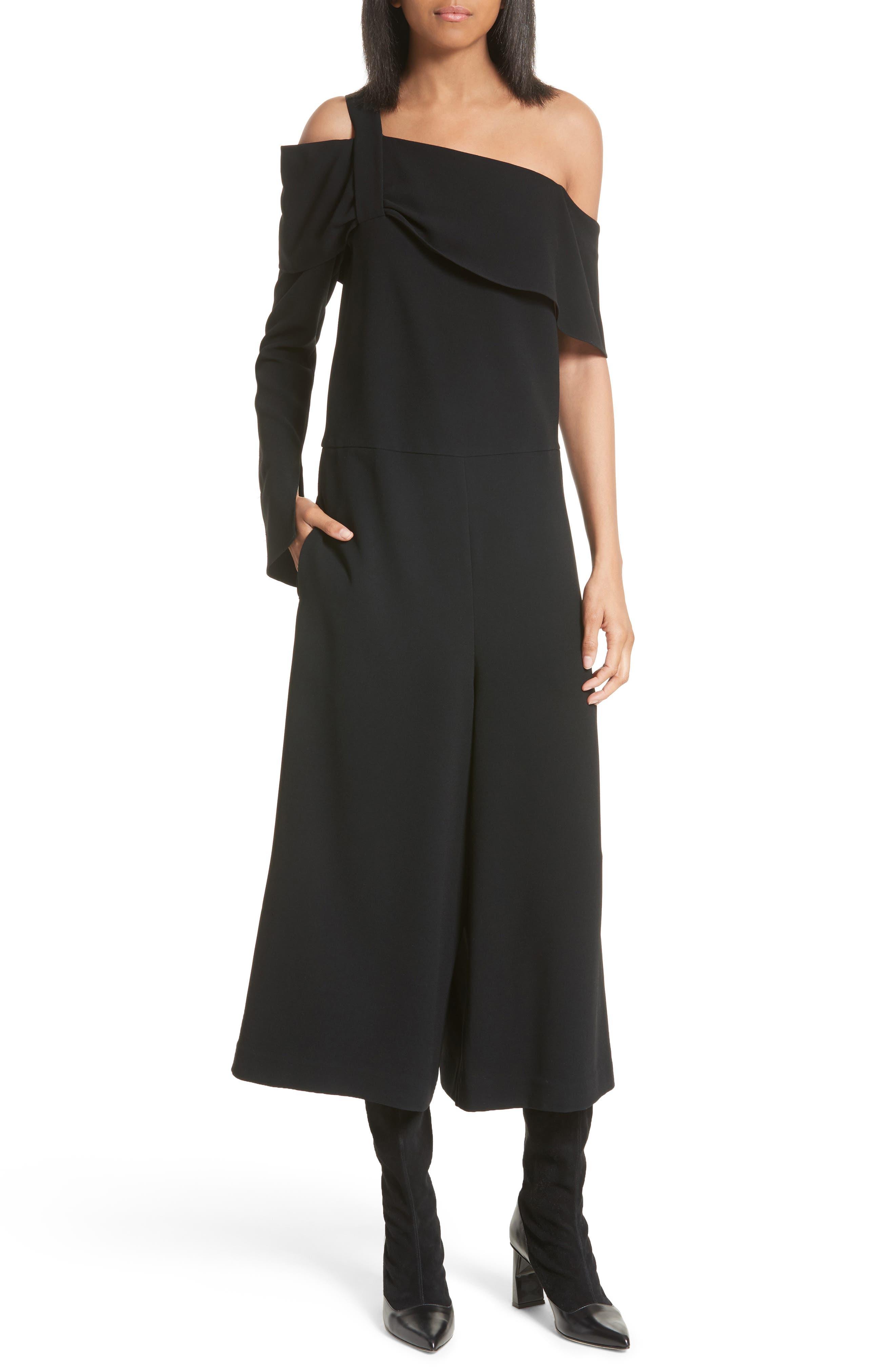 Alternate Image 1 Selected - Tibi Off the Shoulder Crop Jumpsuit