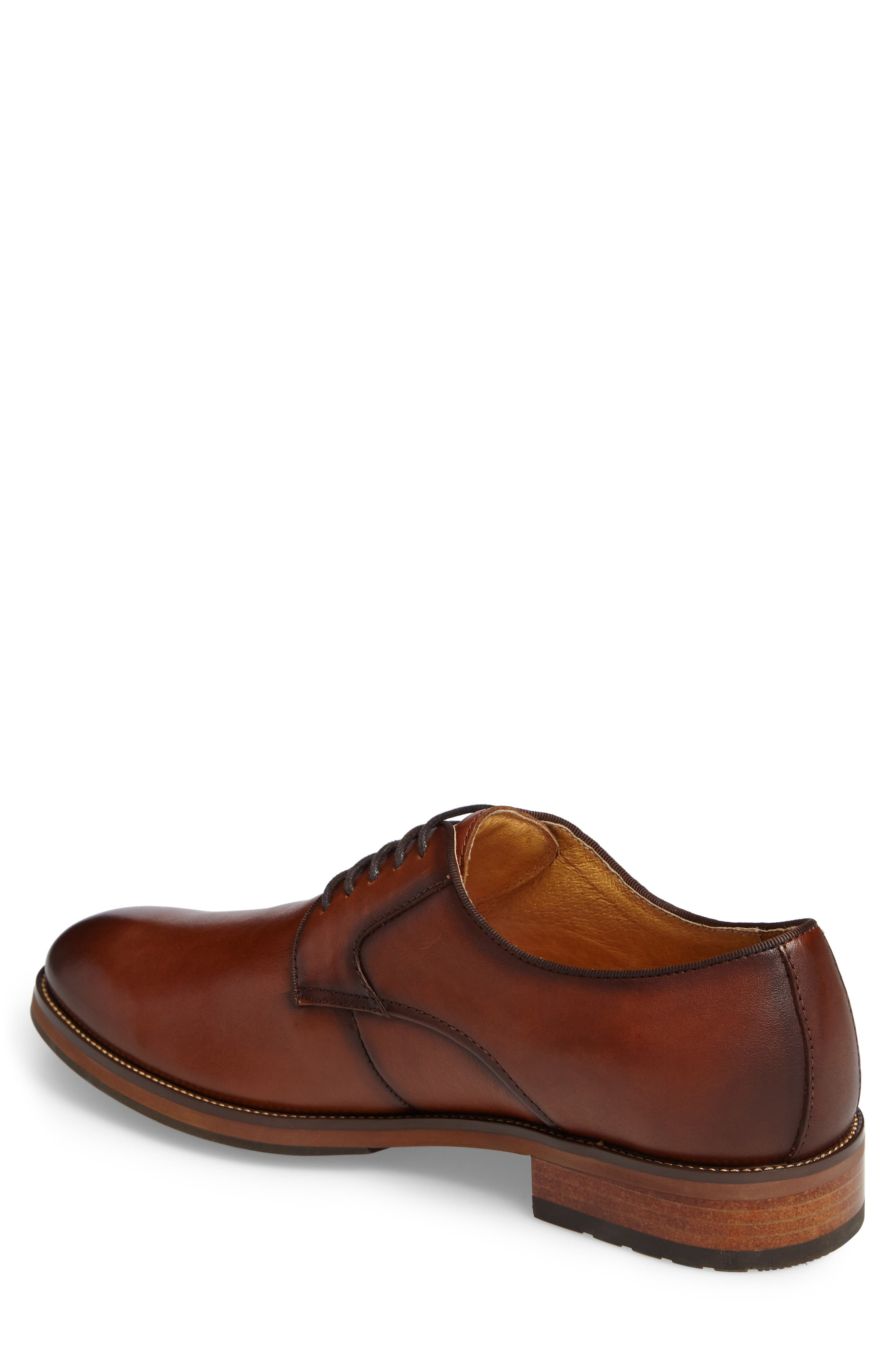 Blaze Plain Toe Derby,                             Alternate thumbnail 2, color,                             Cognac Leather