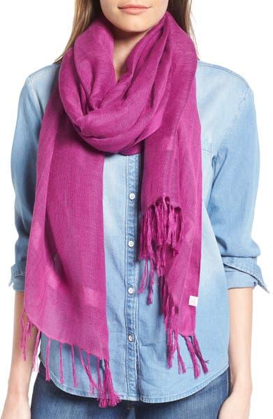 Main Image - Caslon® Linen Blend Scarf