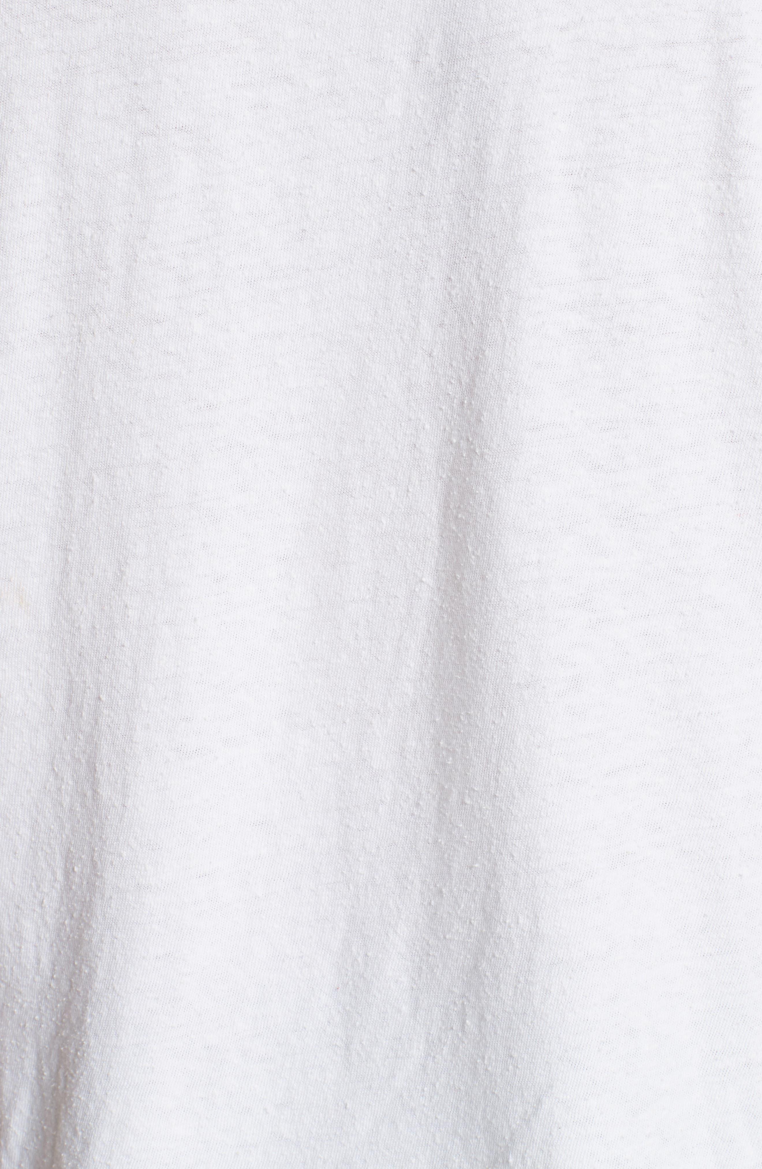Canton Silk Blend Slub Tee,                             Alternate thumbnail 3, color,                             White