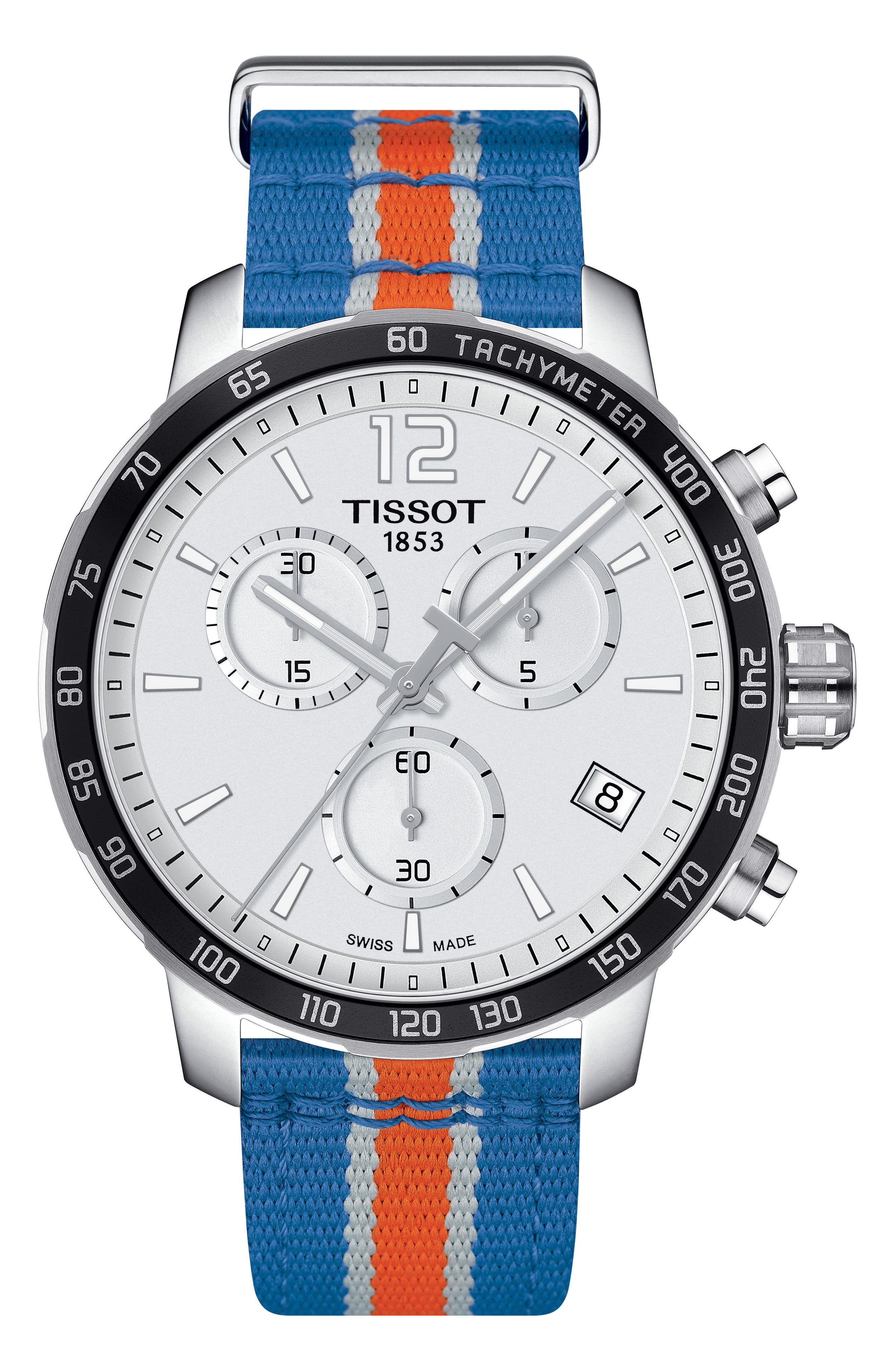 Main Image - Tissot Quikster NBA Chronograph NATO Strap Watch, 42mm