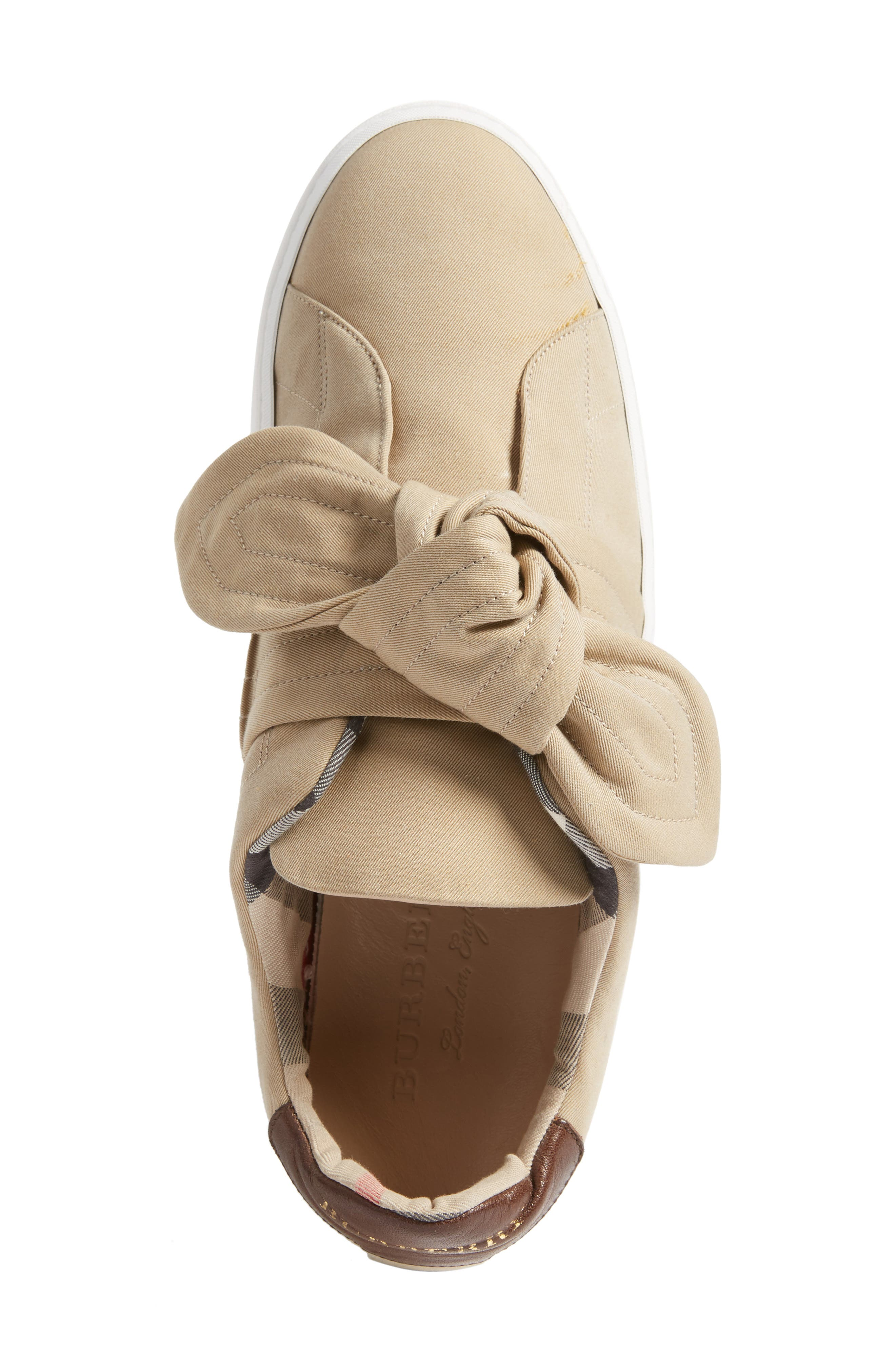 Alternate Image 5  - Burberry Knot Sneaker (Women)