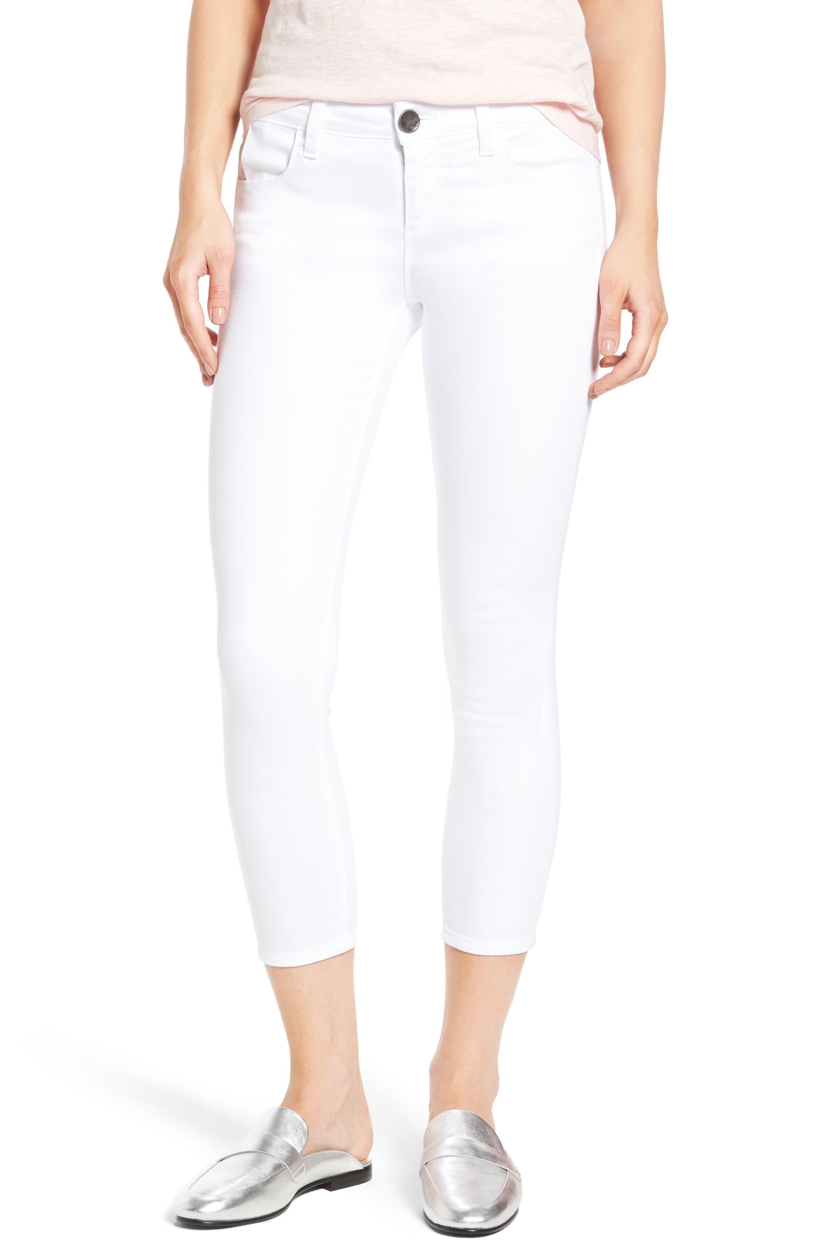 KUT from the Kloth Crop Skinny Jeans (Optic White) (Regular & Petite)