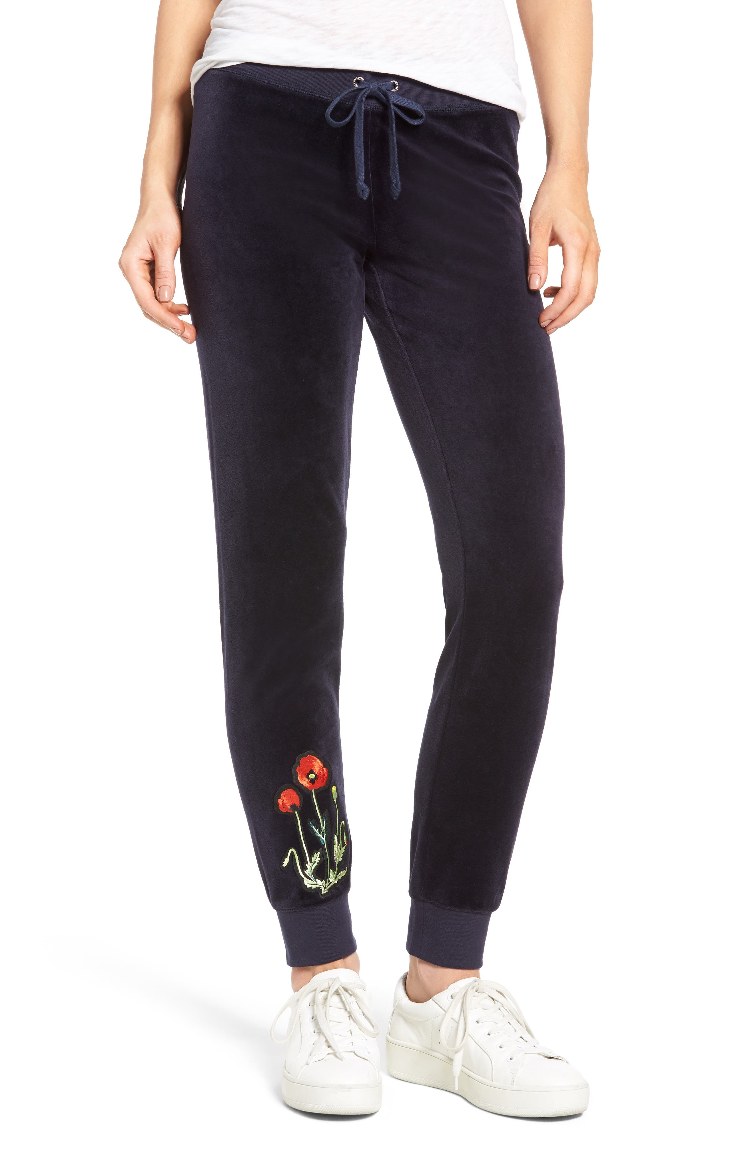 Alternate Image 1 Selected - Juicy Couture Pretty Thing Zuma Velour Track Pants