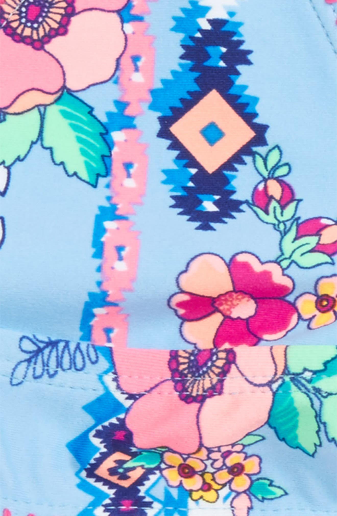 Alternate Image 2  - Gossip Girl Flower Two-Piece Swimsuit (Big Girls)