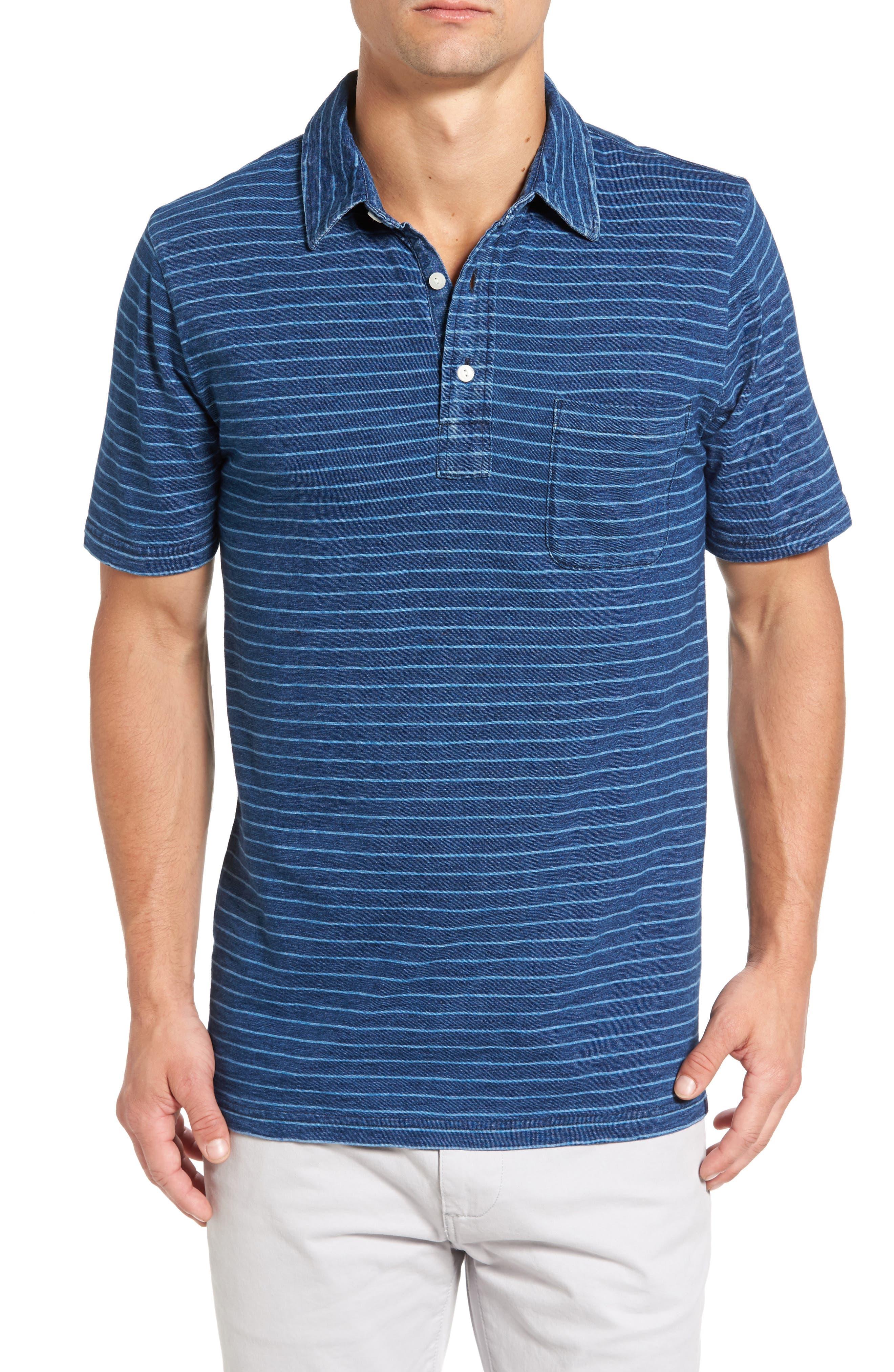 FAHERTY Stripe Jersey Polo