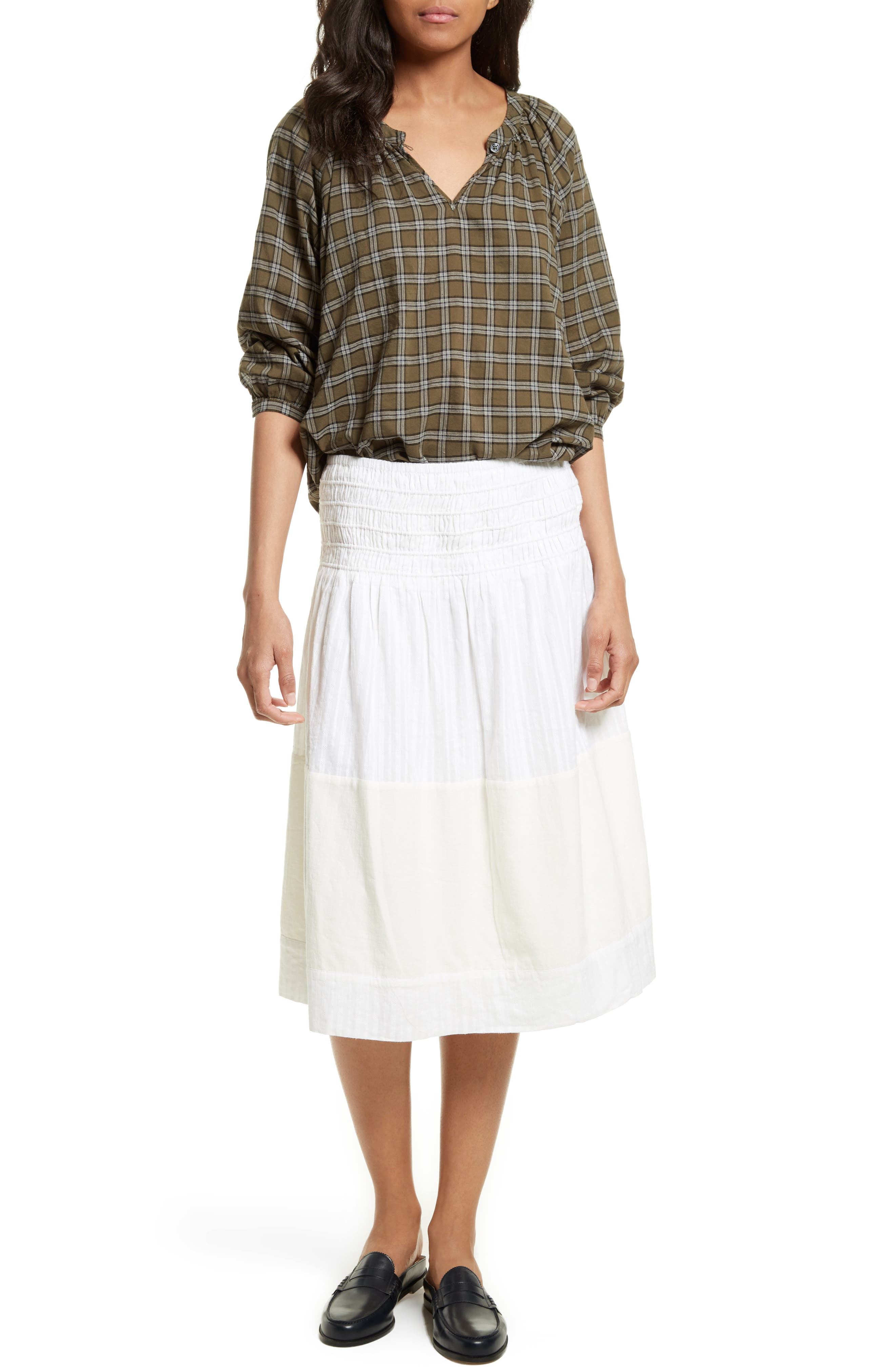 The Afternoon Skirt,                             Alternate thumbnail 2, color,                             Off White