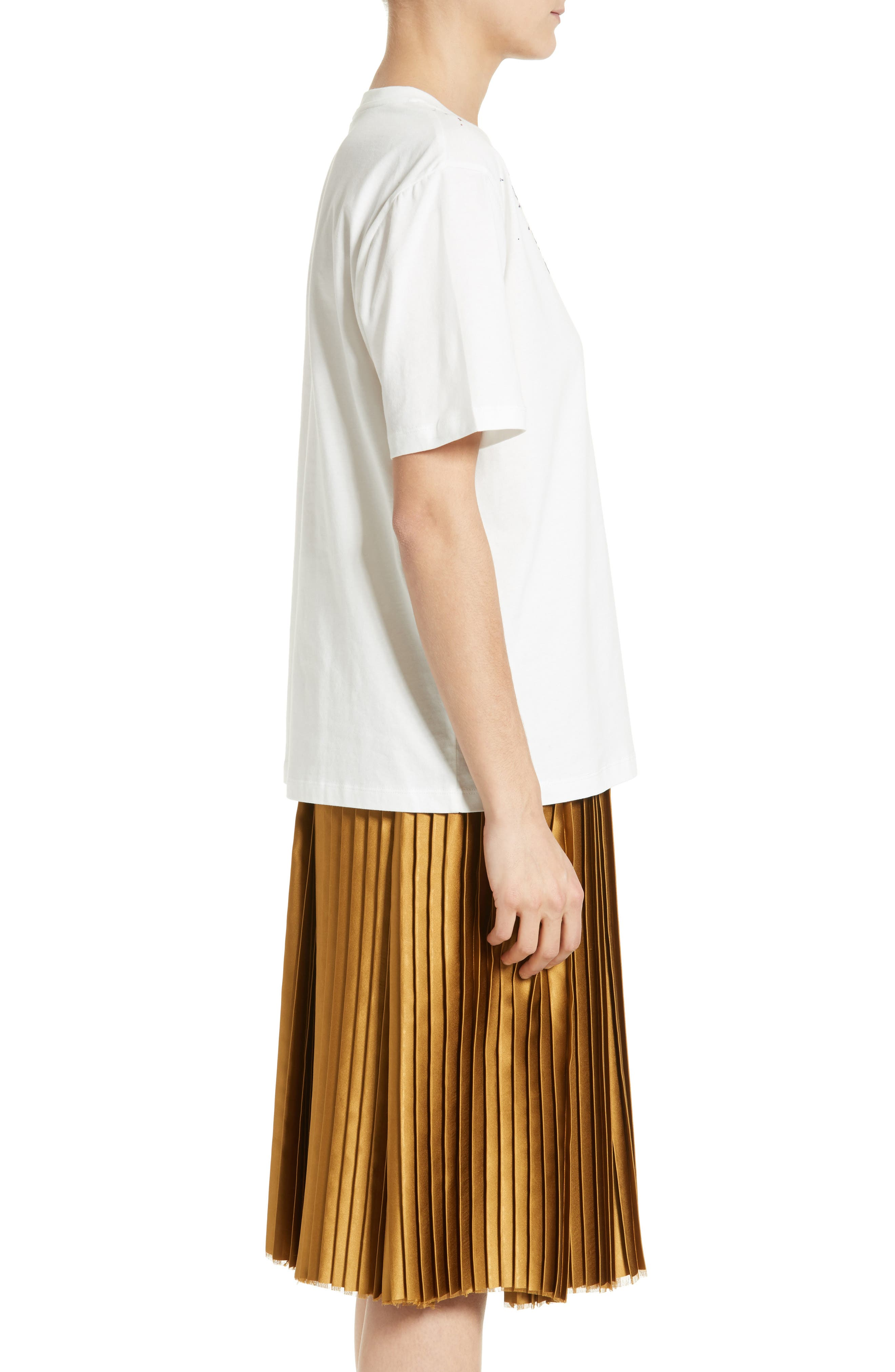 Adara Graphic Tee,                             Alternate thumbnail 3, color,                             Off White
