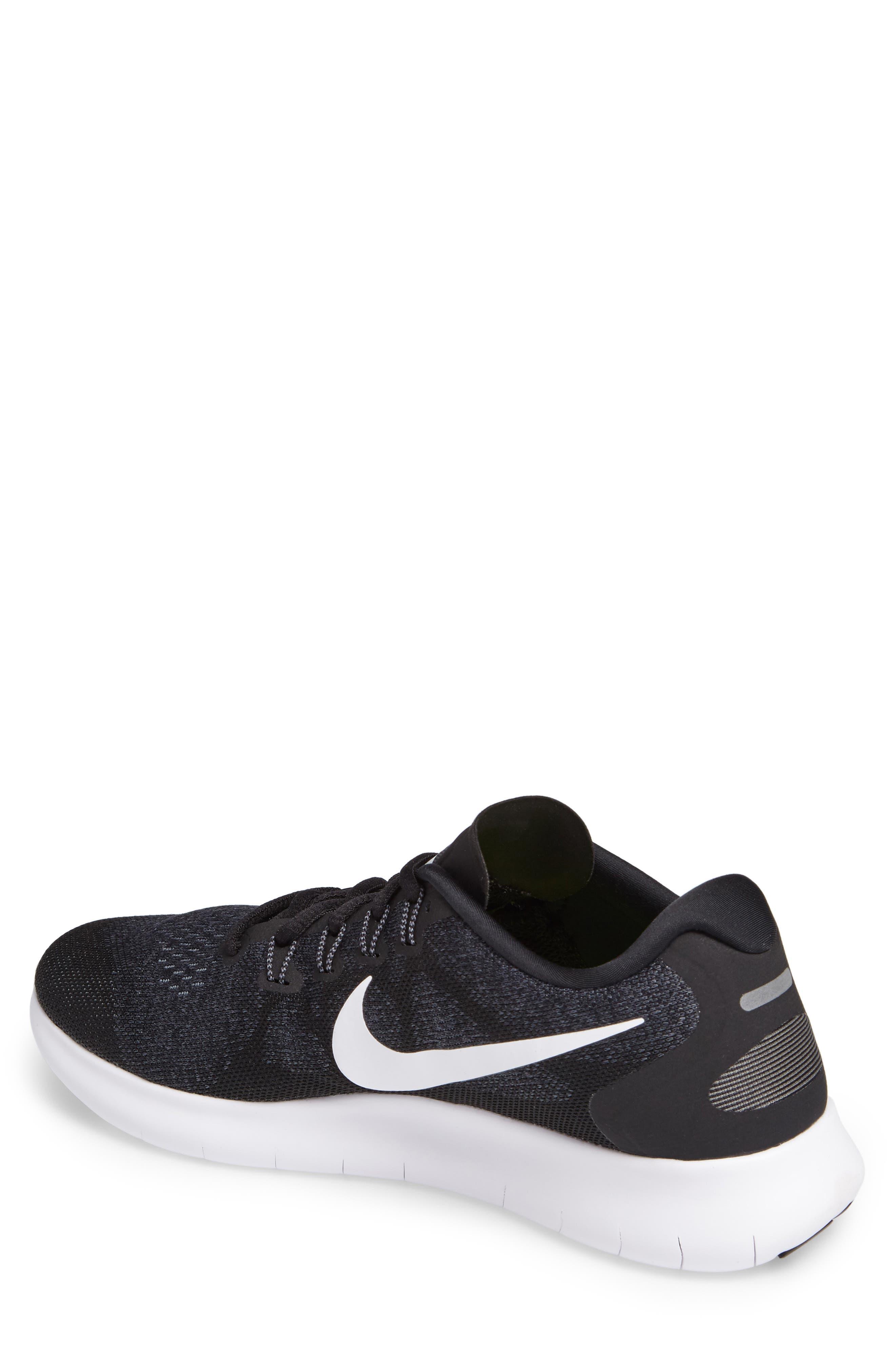 Free Run 2017 Running Shoe,                             Alternate thumbnail 2, color,                             Black/ White/ Grey/ Anthracite