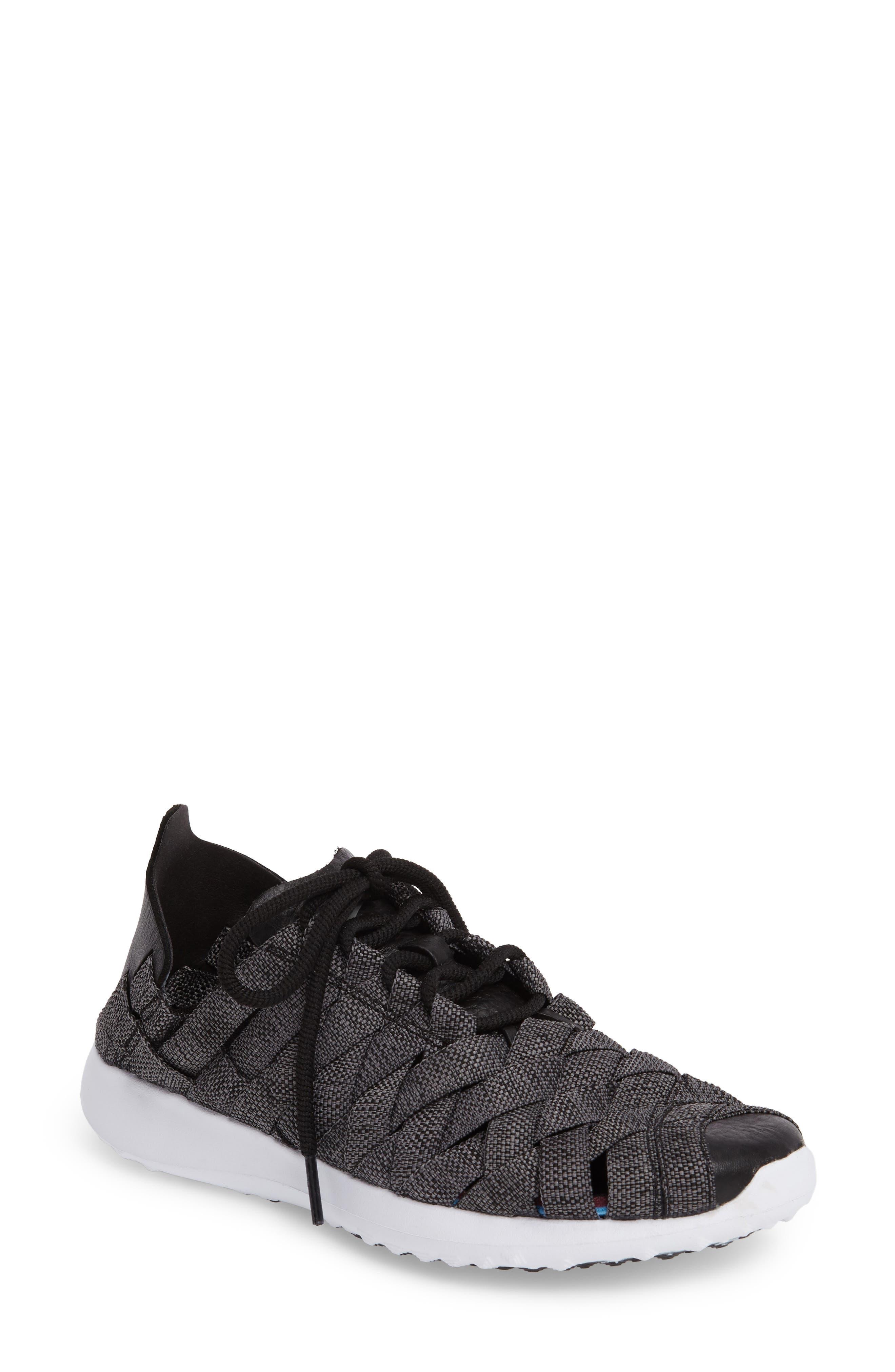 'Juvenate - Woven' Sneaker,                             Main thumbnail 1, color,                             Black/ Cool Grey/ White