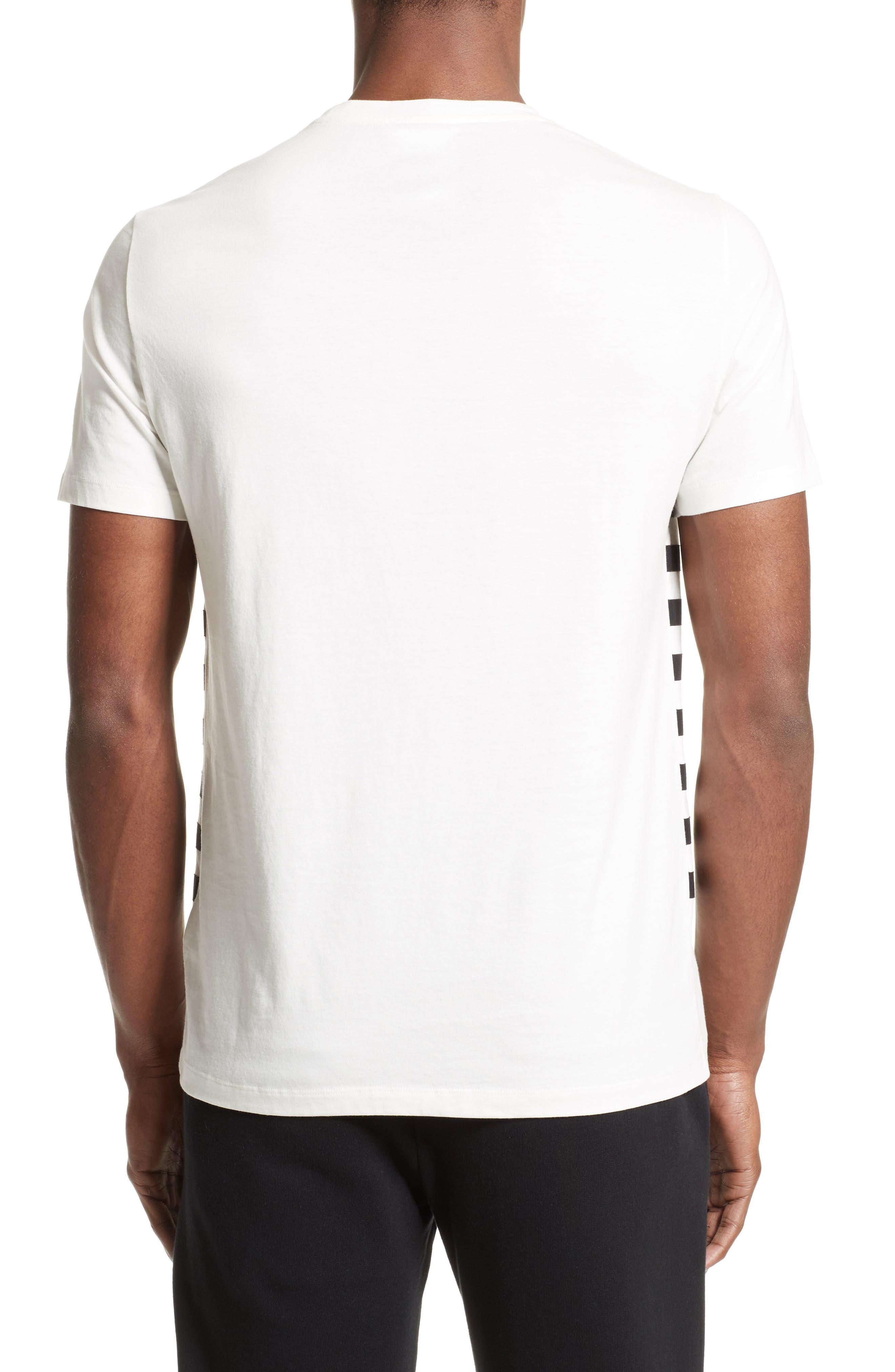 Hologram Stripe T-Shirt,                             Alternate thumbnail 2, color,                             White