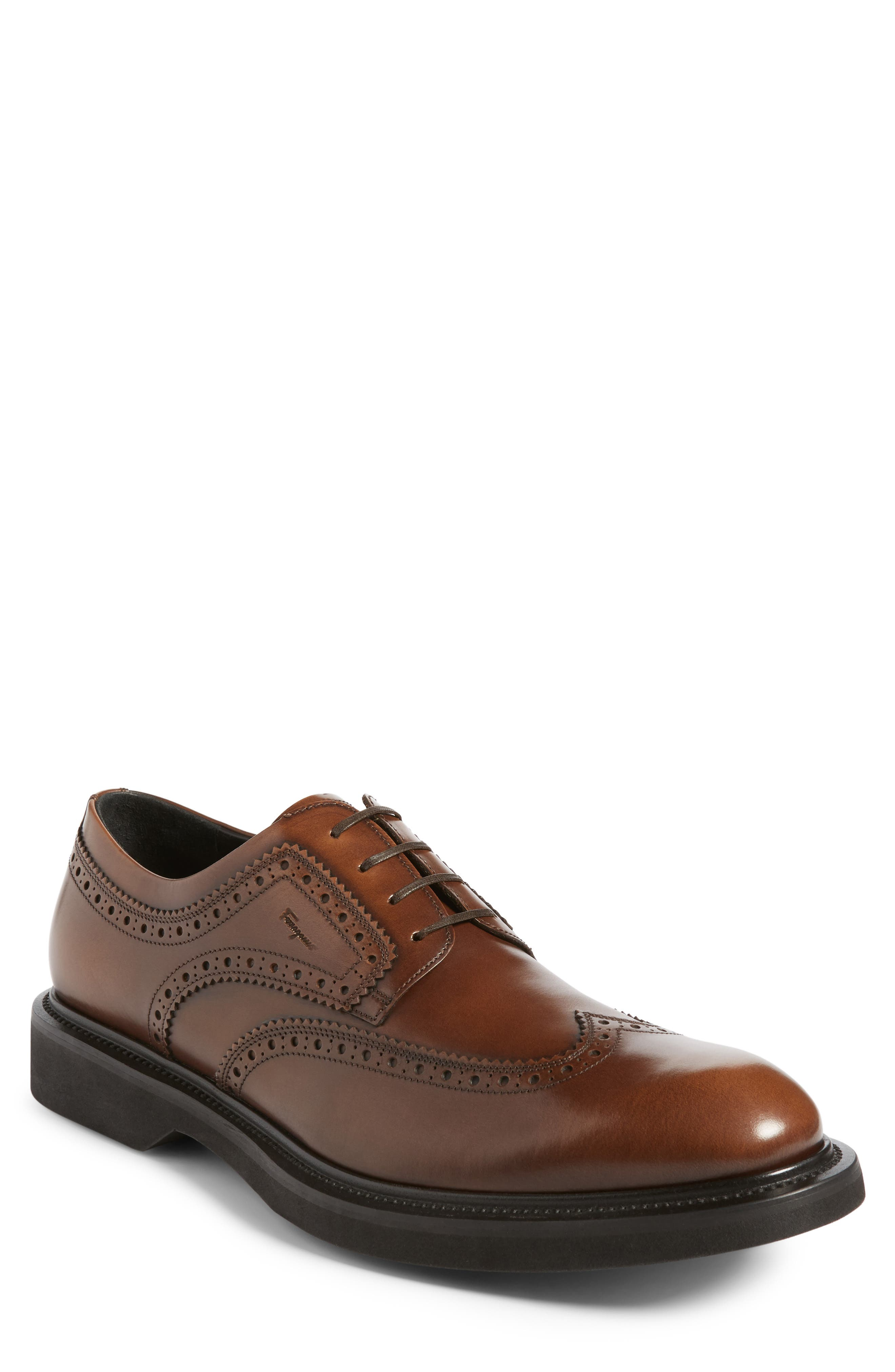 Salvatore Ferragamo Donegal Wingtip (Men)