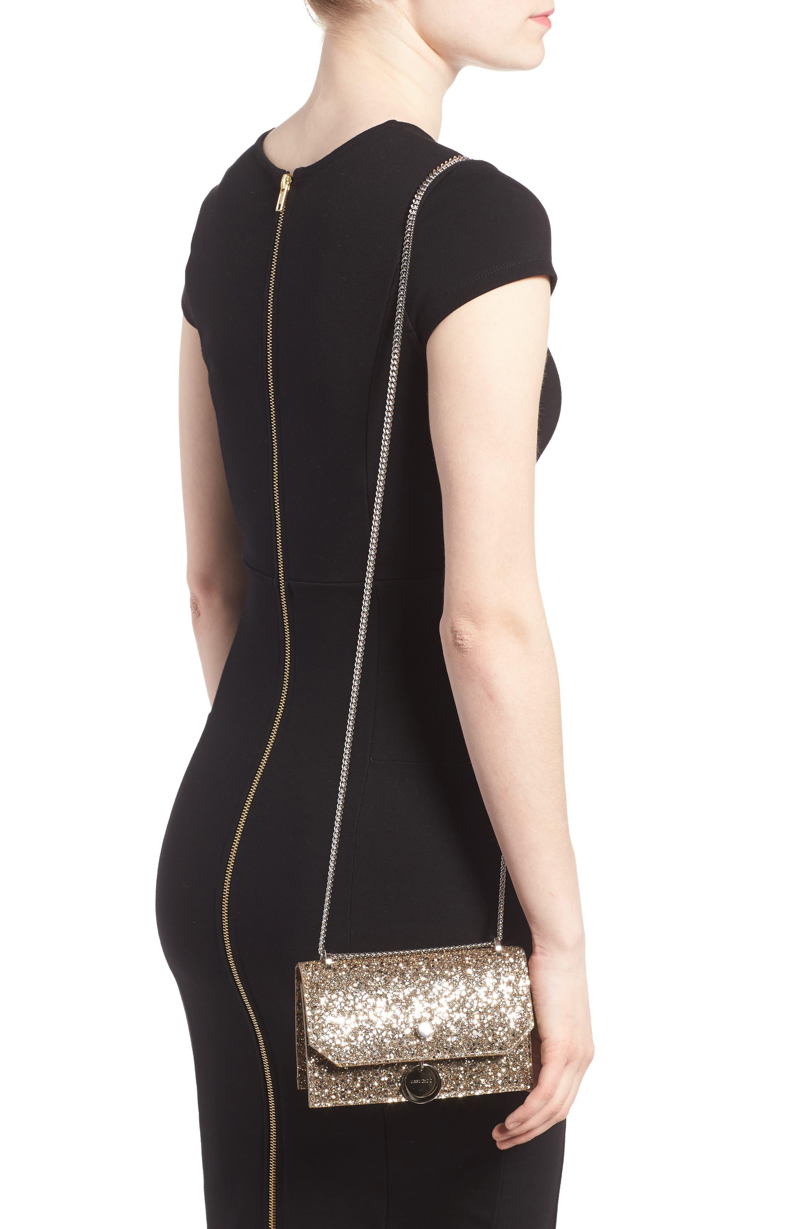 Finley Shadow Glitter Shoulder Bag,                             Alternate thumbnail 2, color,                             Antique Gold