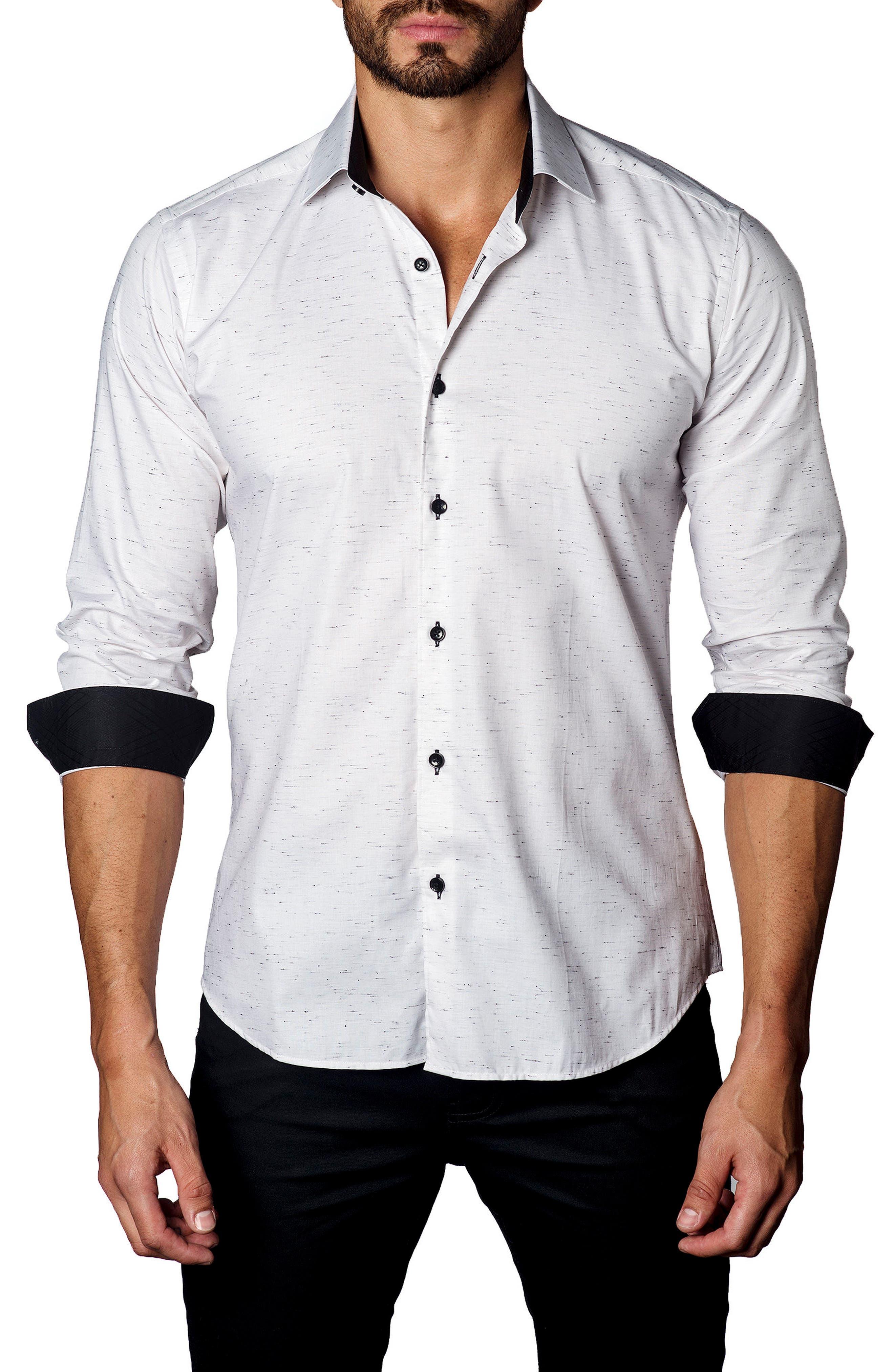 Sport Shirt,                         Main,                         color, Cream