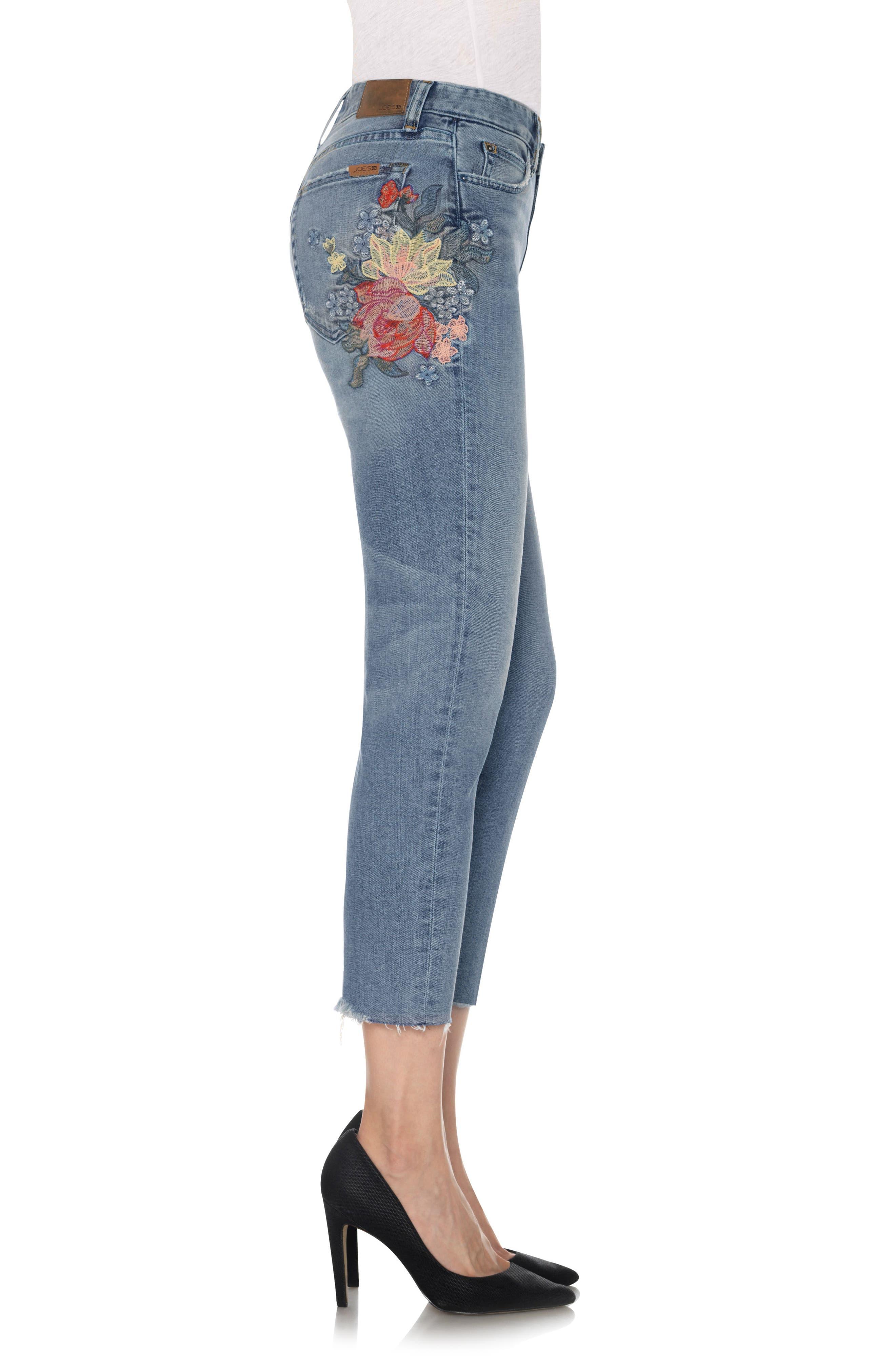 Alternate Image 4  - Joe's The Debbie Embroidered High Waist Crop Straight Leg Jeans (Sasha)