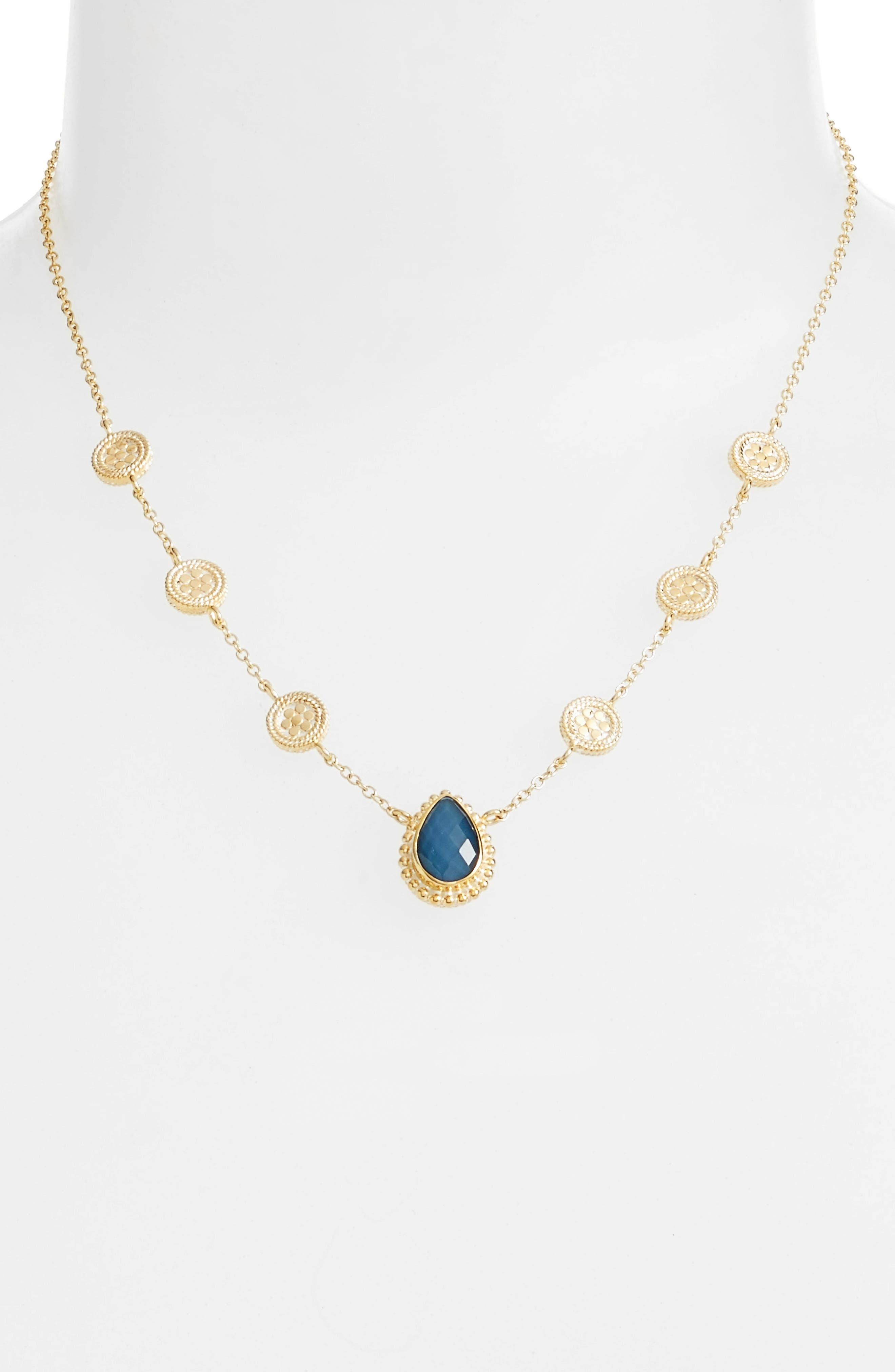 ANNA BECK Blue Quartz Reversible Collar Necklace