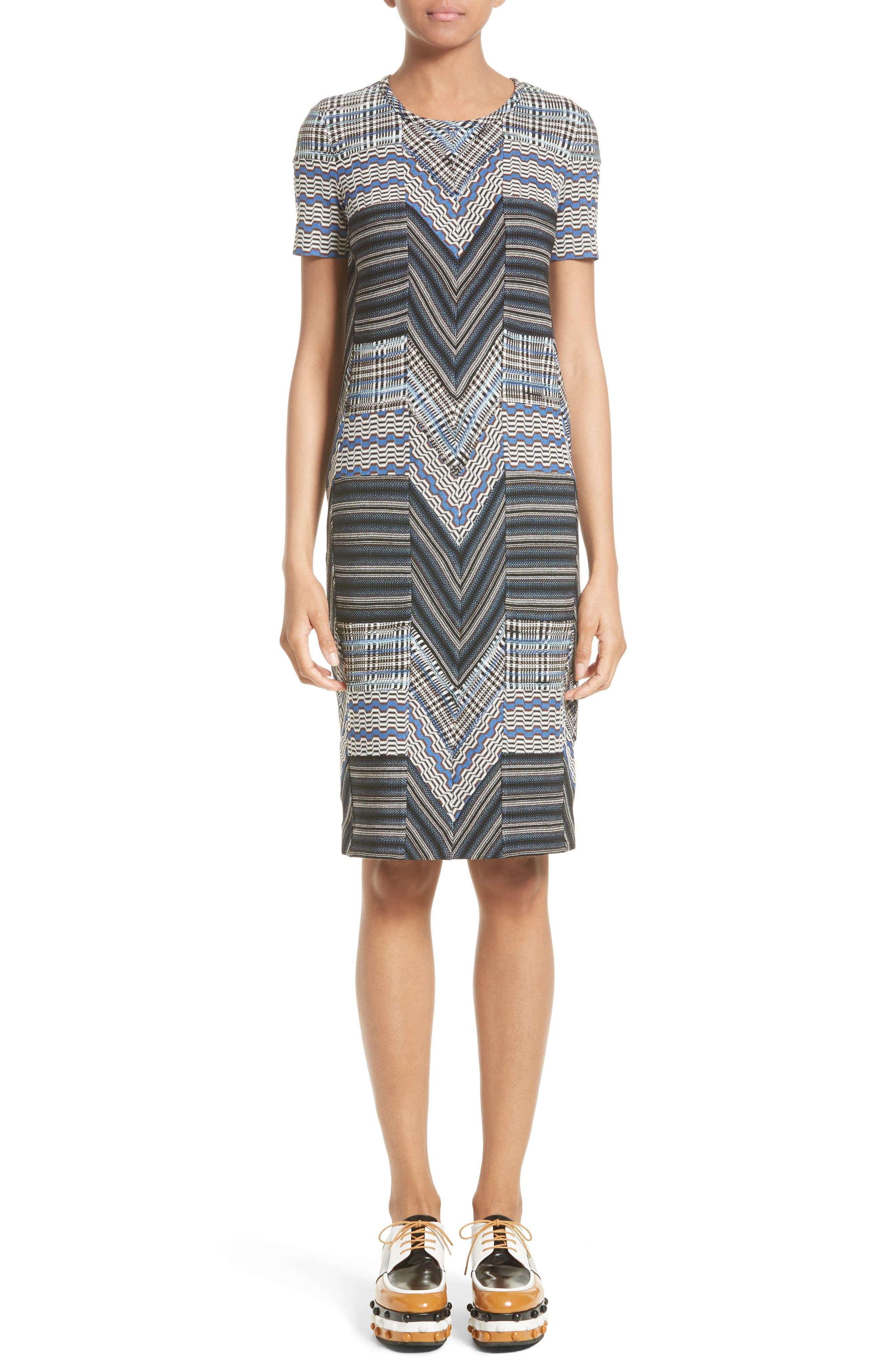Missoni Patchwork Wool Blend Knit Dress