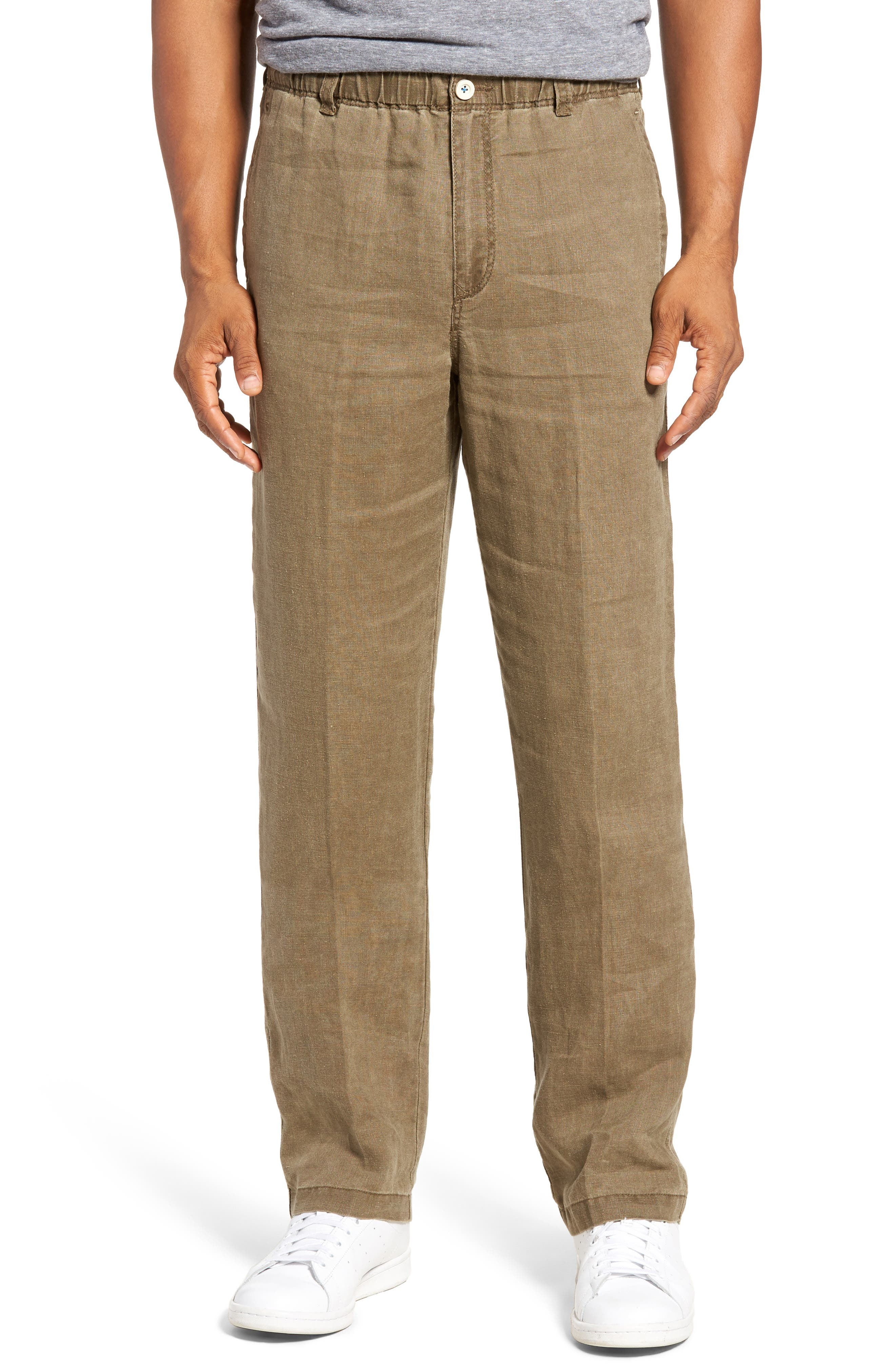 New Linen on the Beach Linen Pants,                         Main,                         color, Lentil
