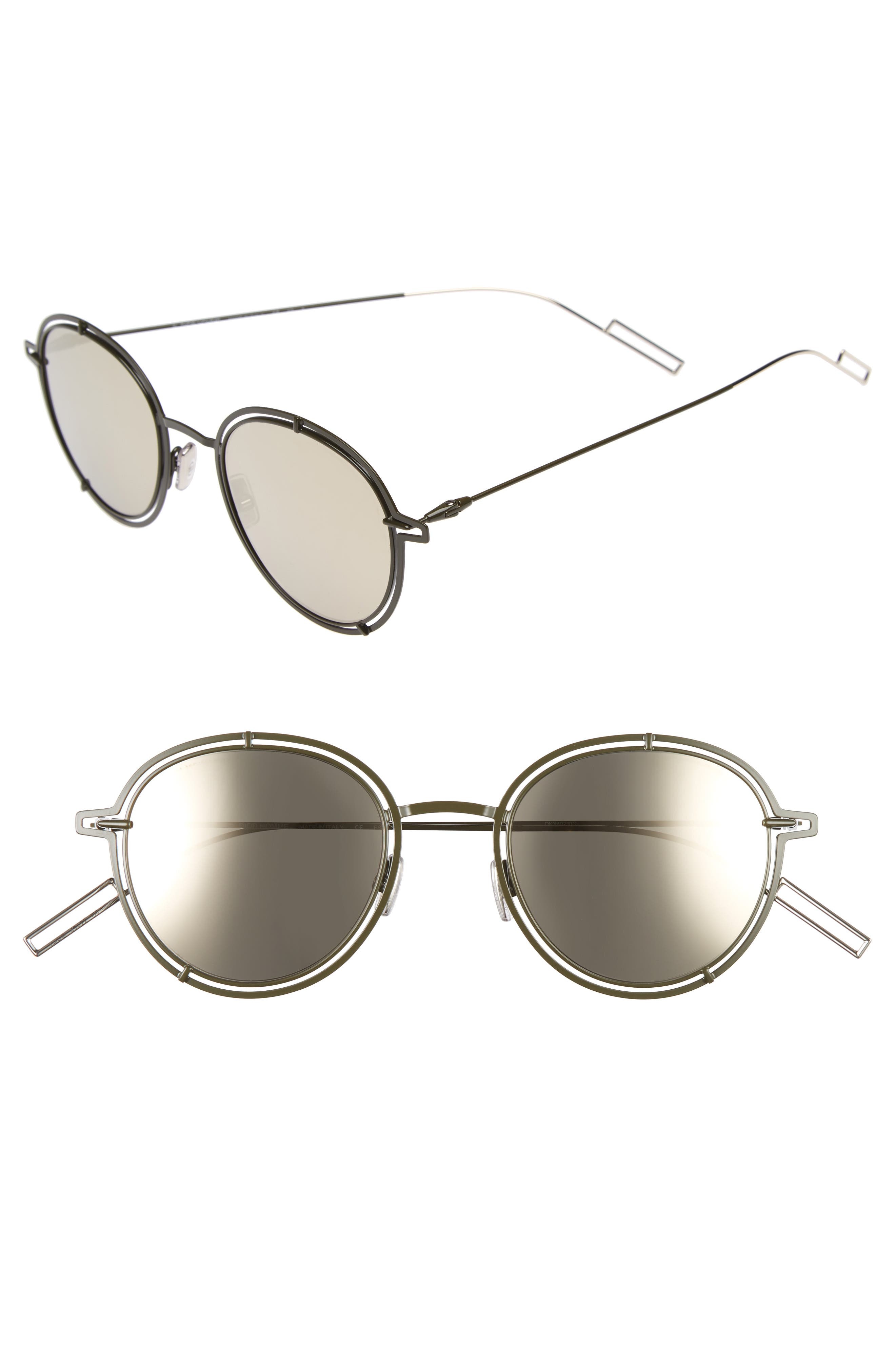 Dior Homme 49mm Round Sunglasses