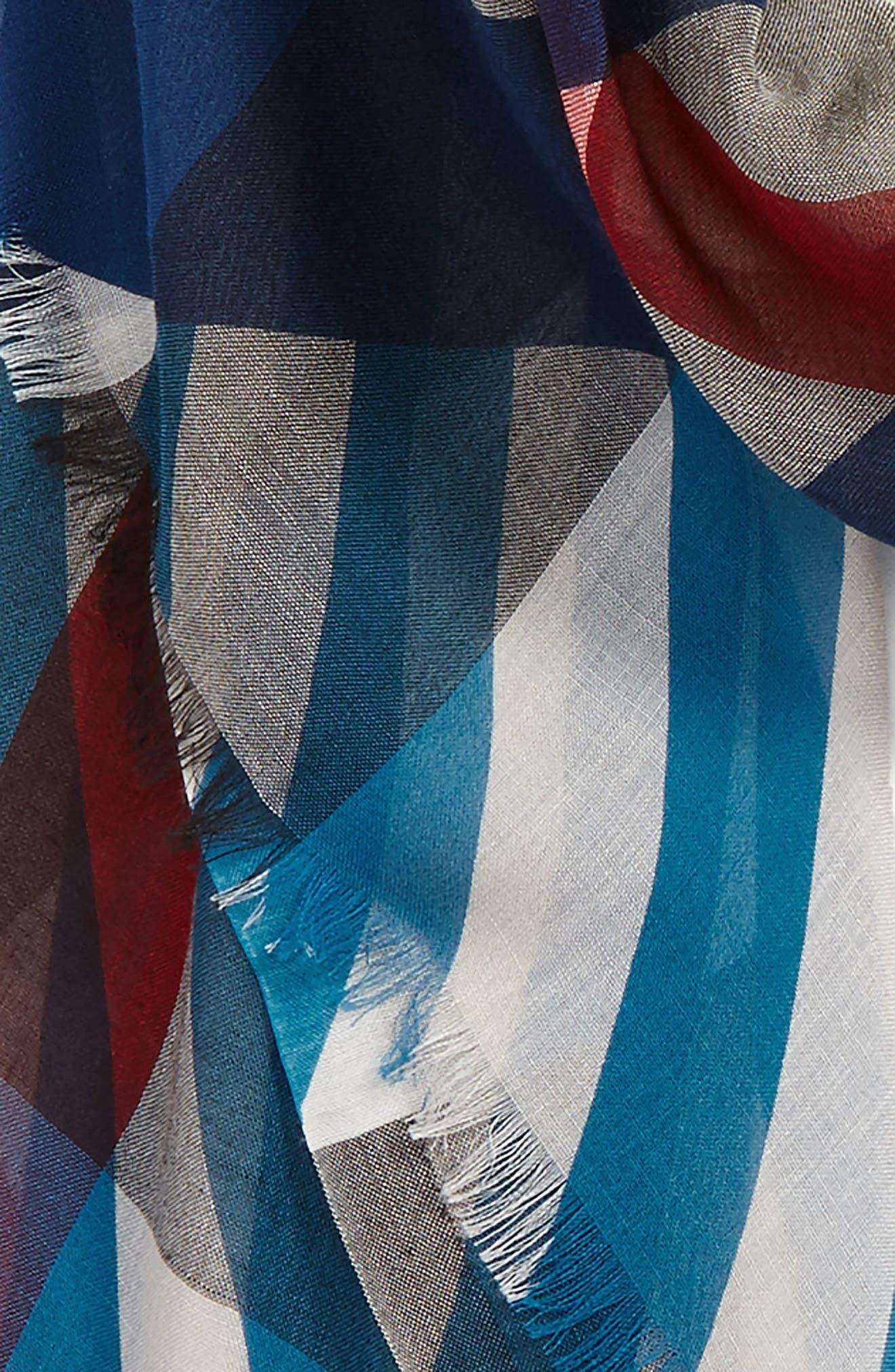 Alternate Image 3  - Burberry Stripe & Check Scarf