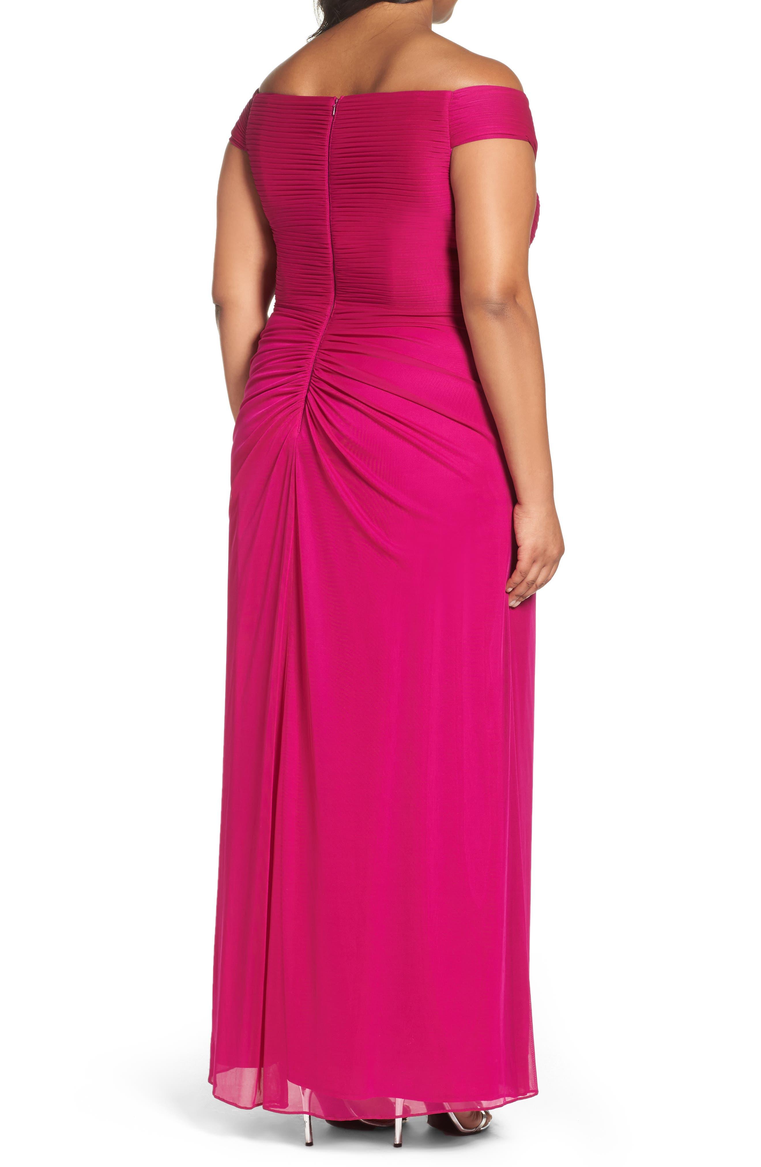 Alternate Image 2  - Alex Evenings Embellished Off the Shoulder Gown (Plus Size)