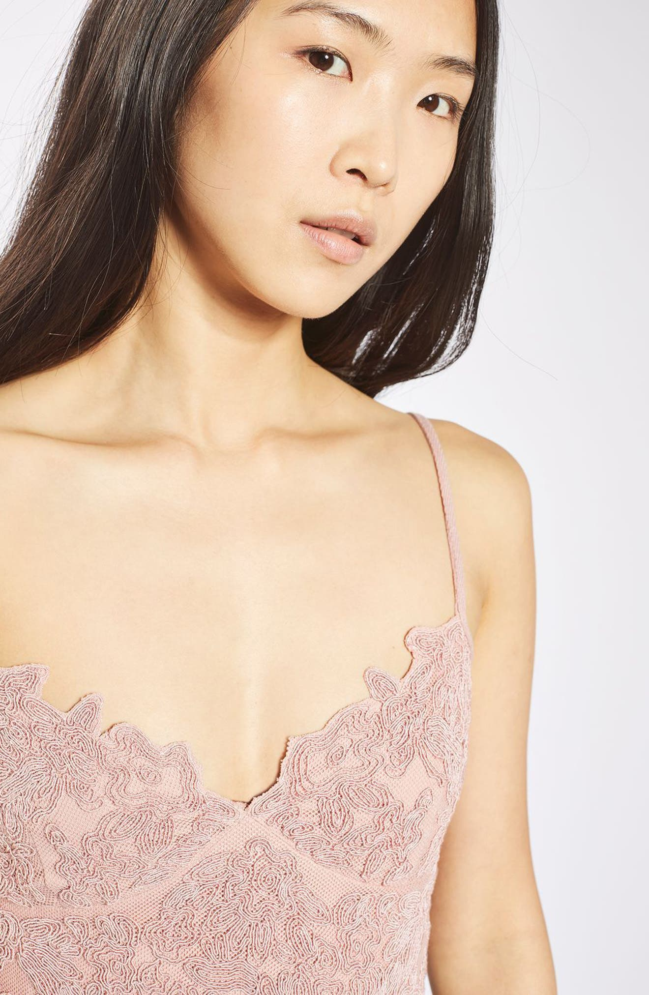 Alternate Image 6  - Topshop Embroidered Cutwork Bralette