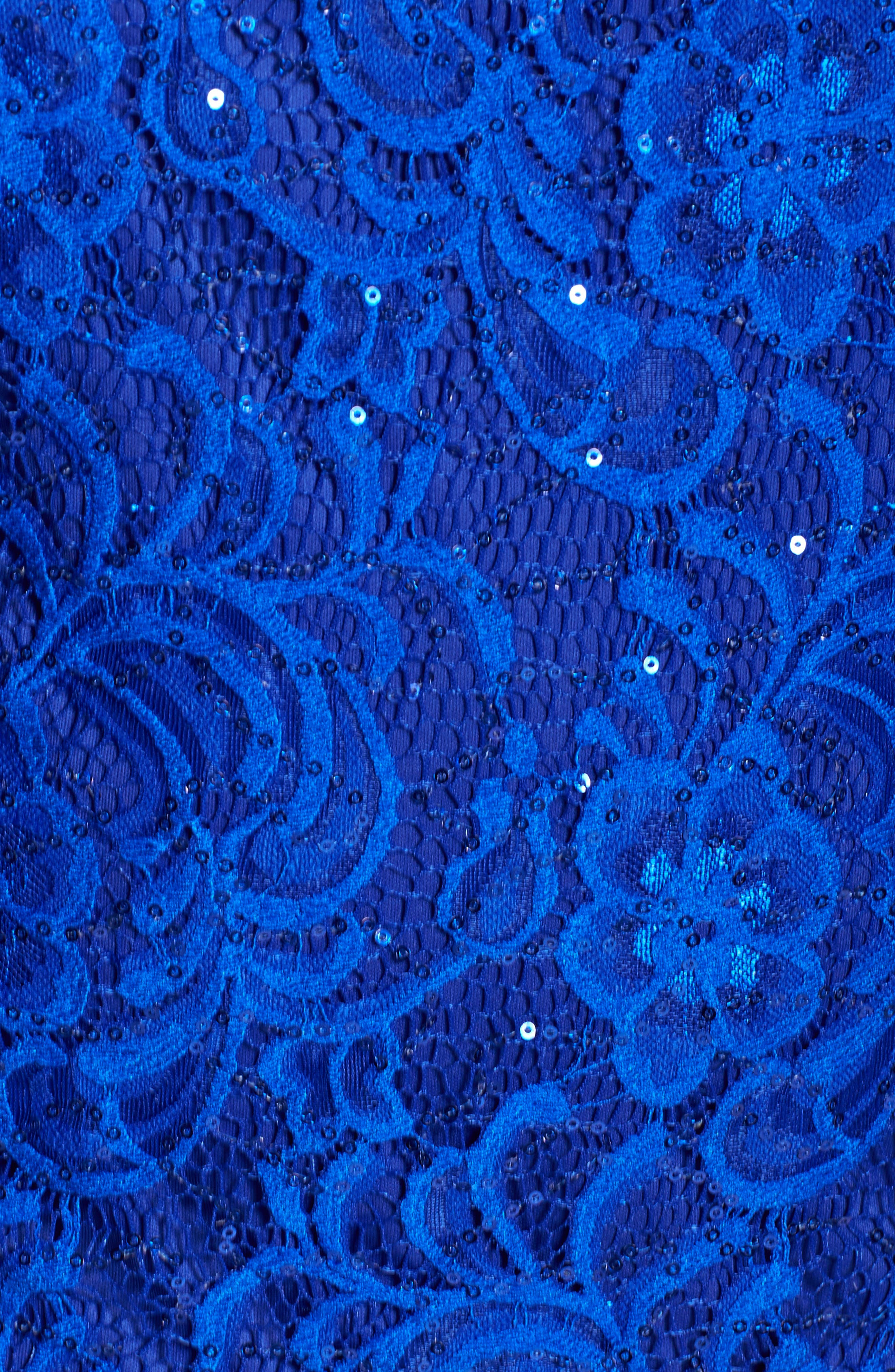 Sequin Lace Twinset,                             Alternate thumbnail 5, color,                             Bright Sapphire