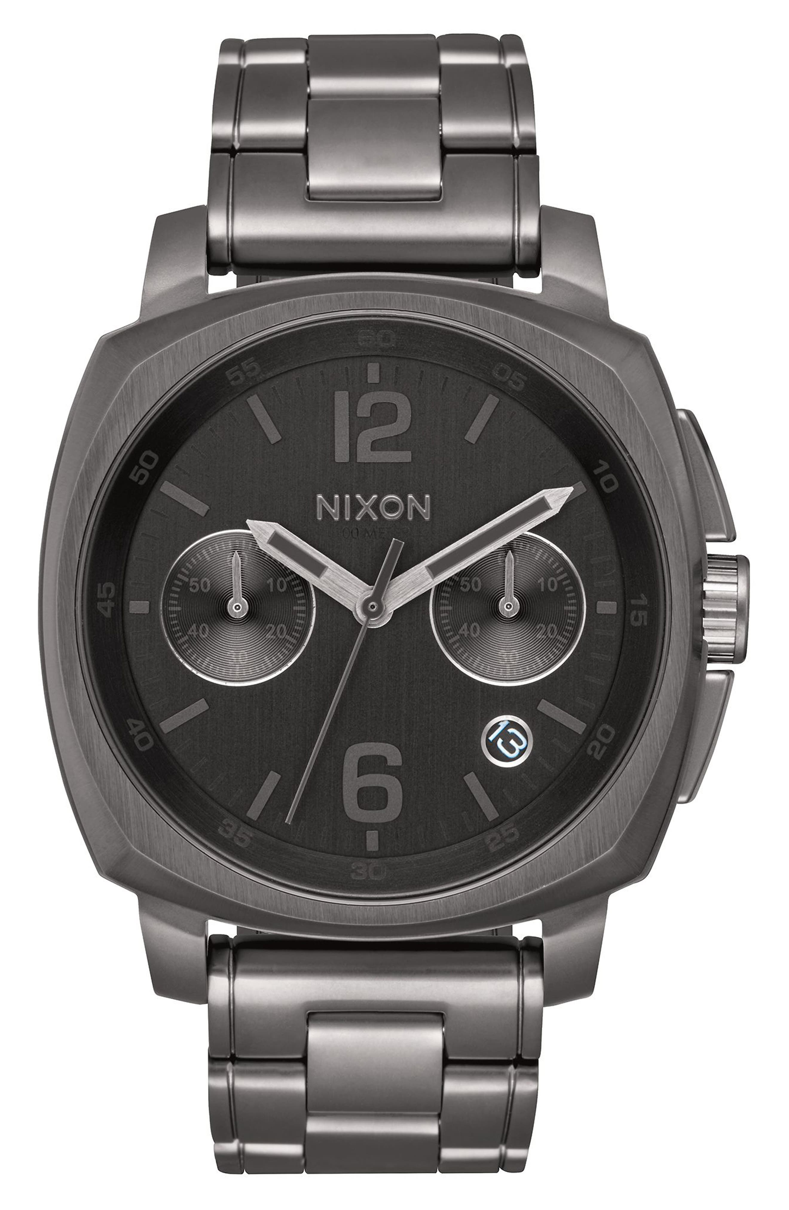 Main Image - Nixon Charger Chronograph Bracelet Watch, 42mm