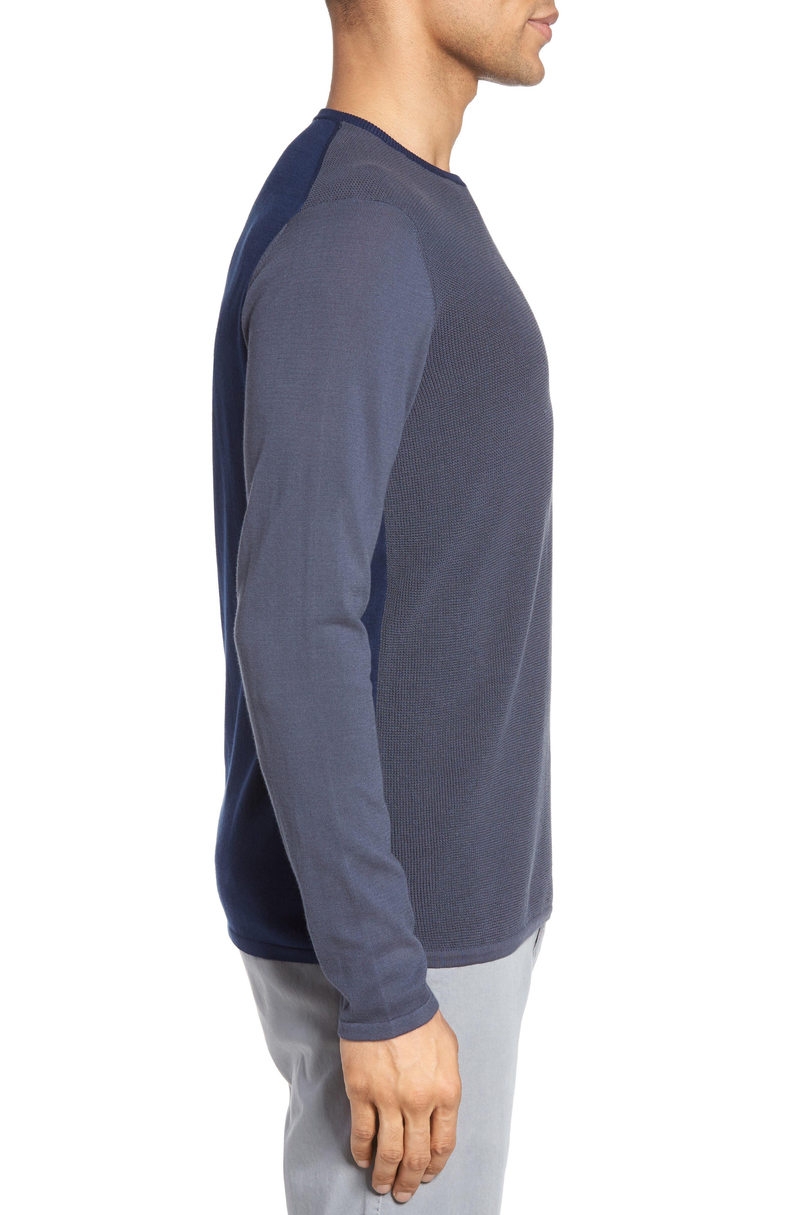 Boxwood Sweater,                             Alternate thumbnail 3, color,                             Ocean