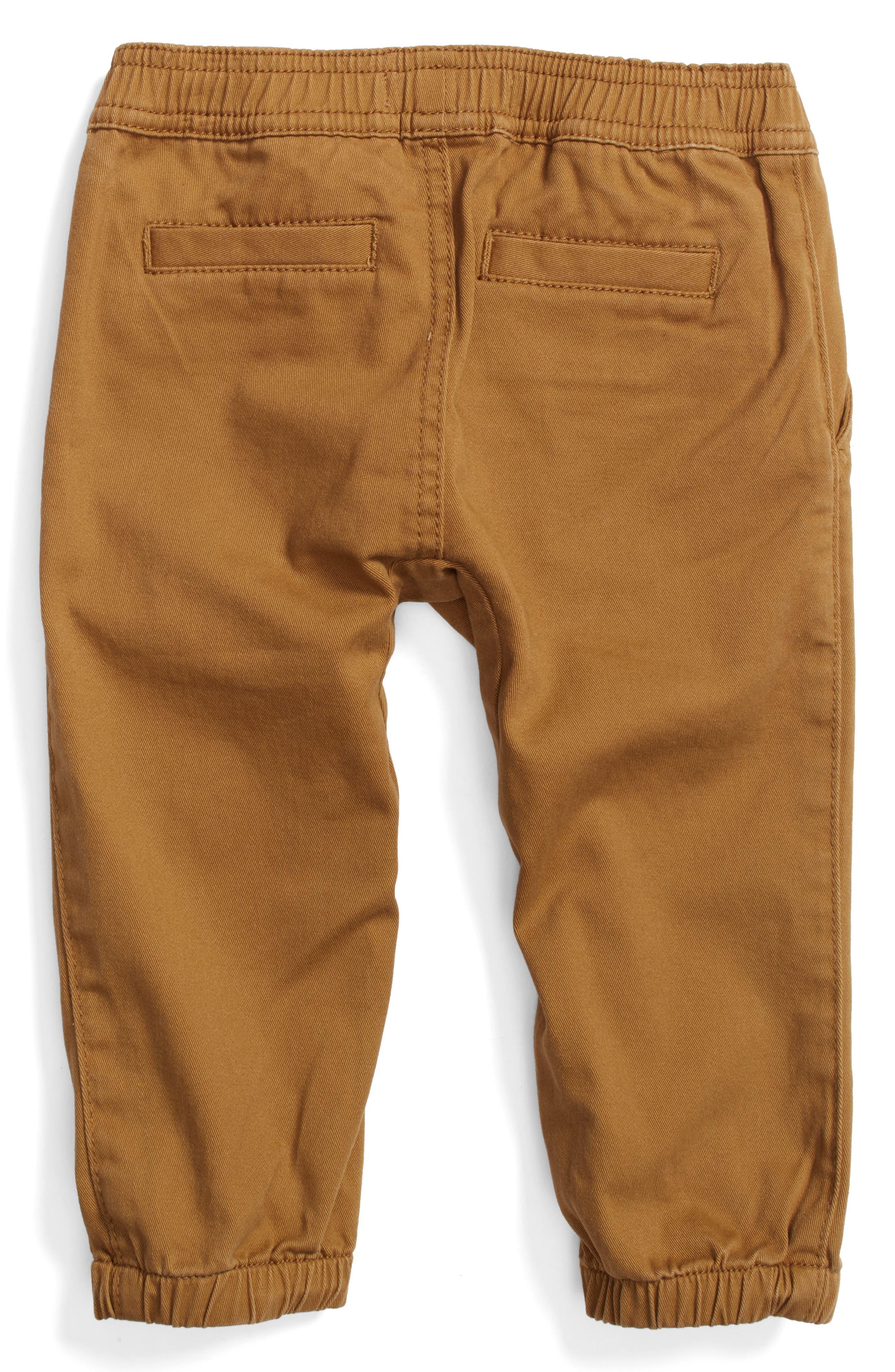 Twill Jogger Pants,                             Alternate thumbnail 2, color,                             Tan Cumin