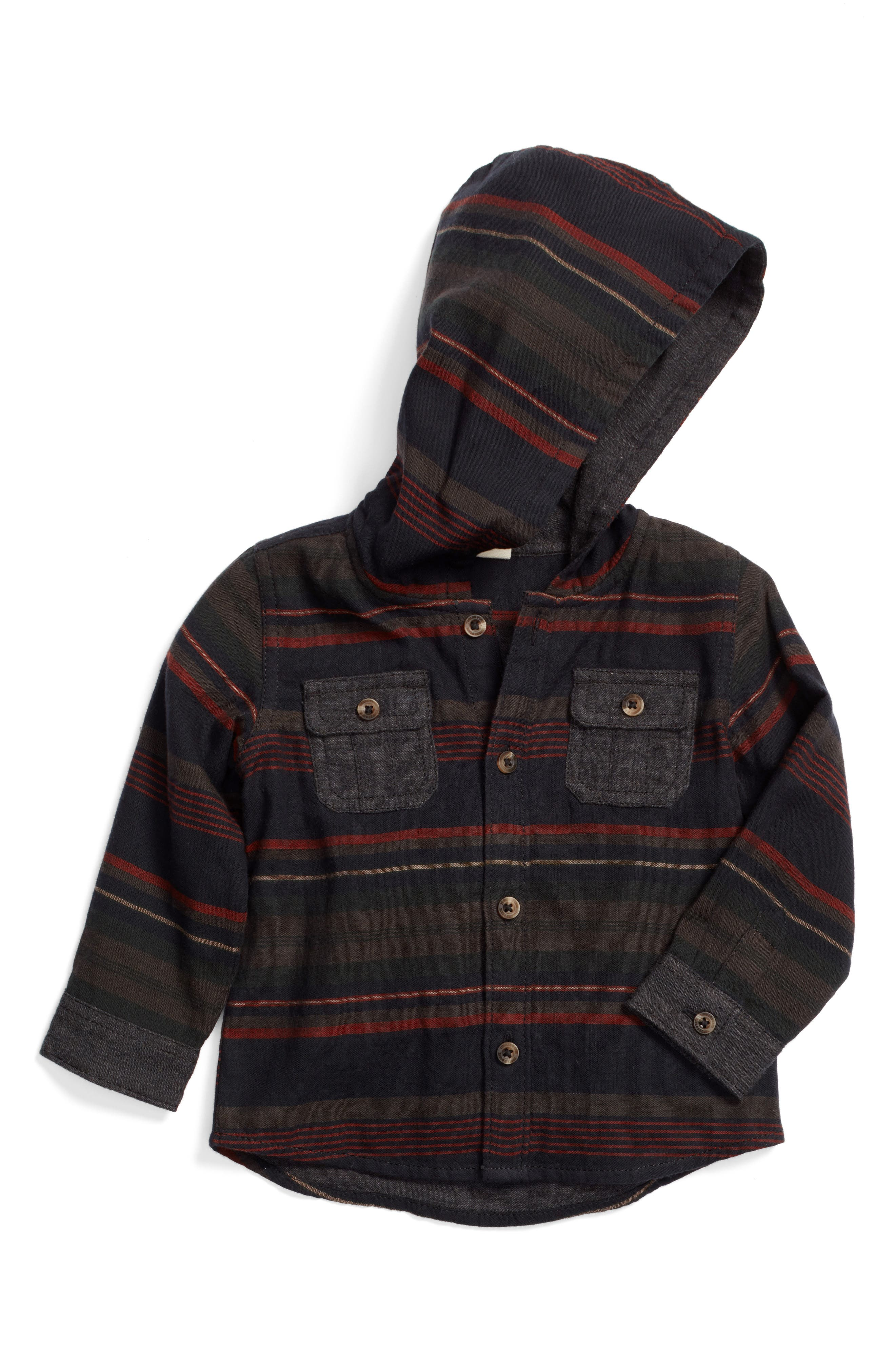 Tucker + Tate Double Cloth Button Hoodie (Baby Boys)