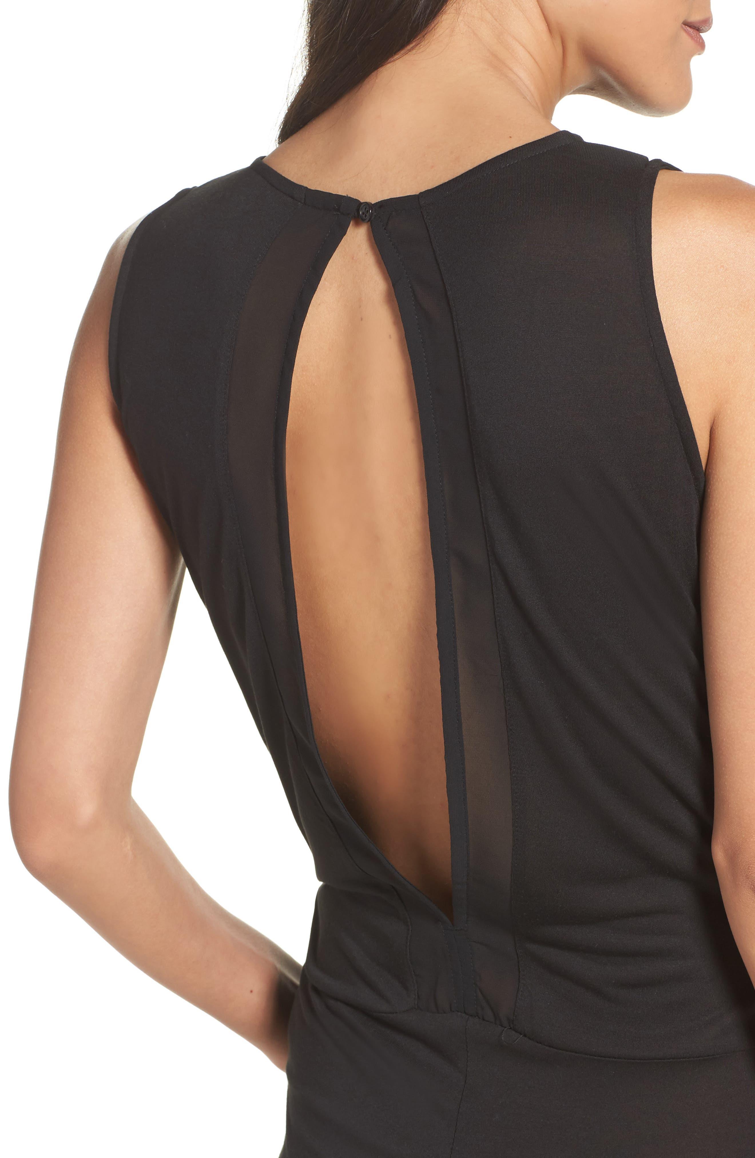 Alternate Image 4  - DKNY Pleat Front Jumpsuit