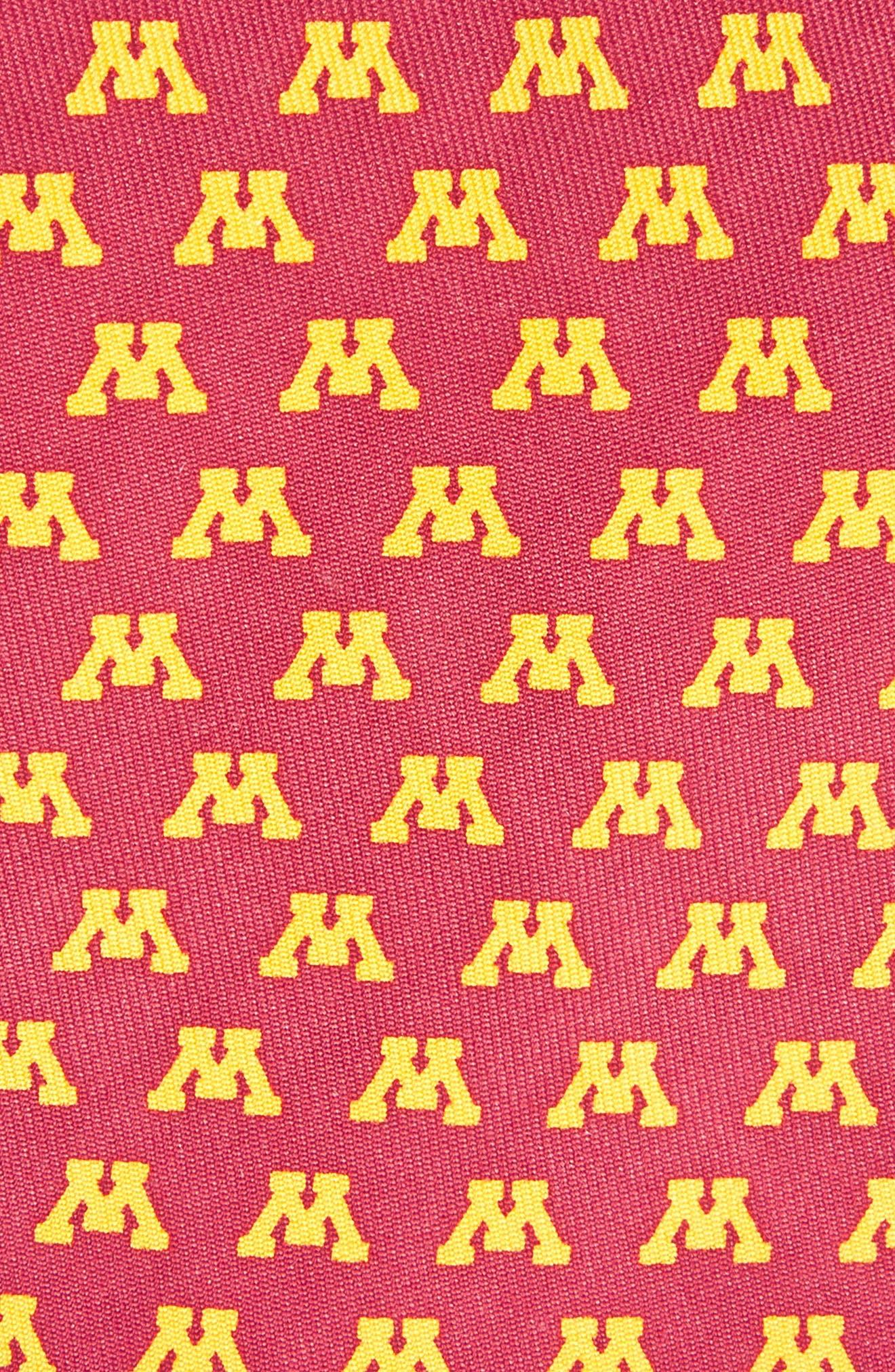 University of Minnesota Silk Tie,                             Alternate thumbnail 2, color,                             College Ma