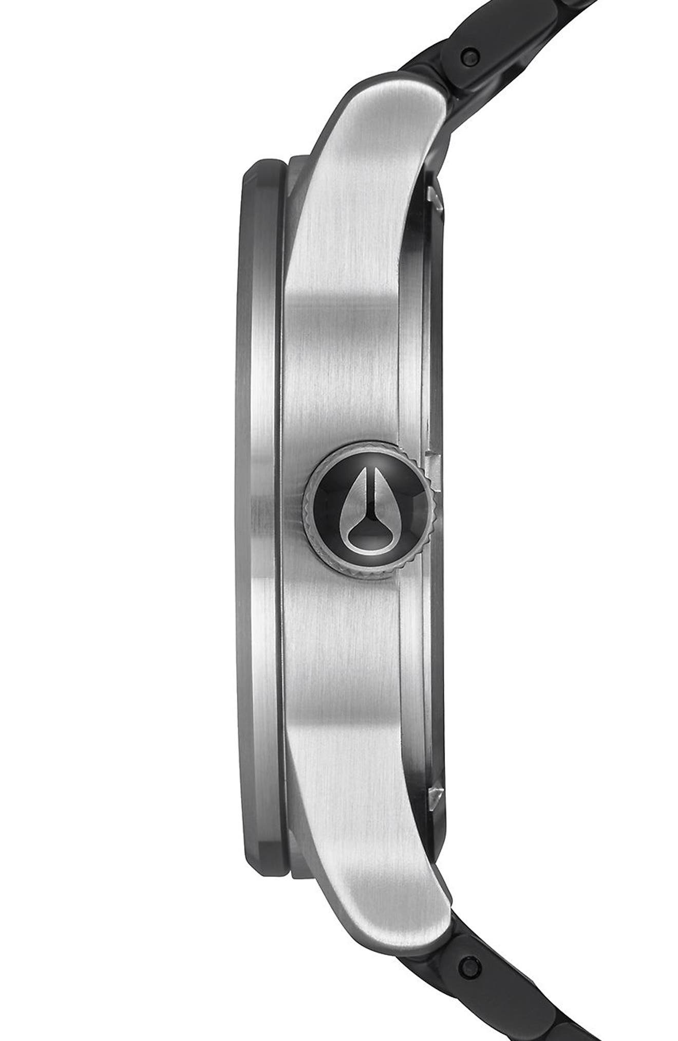 Sentry Bracelet Watch, 42mm,                             Alternate thumbnail 3, color,                             Black/ Silver
