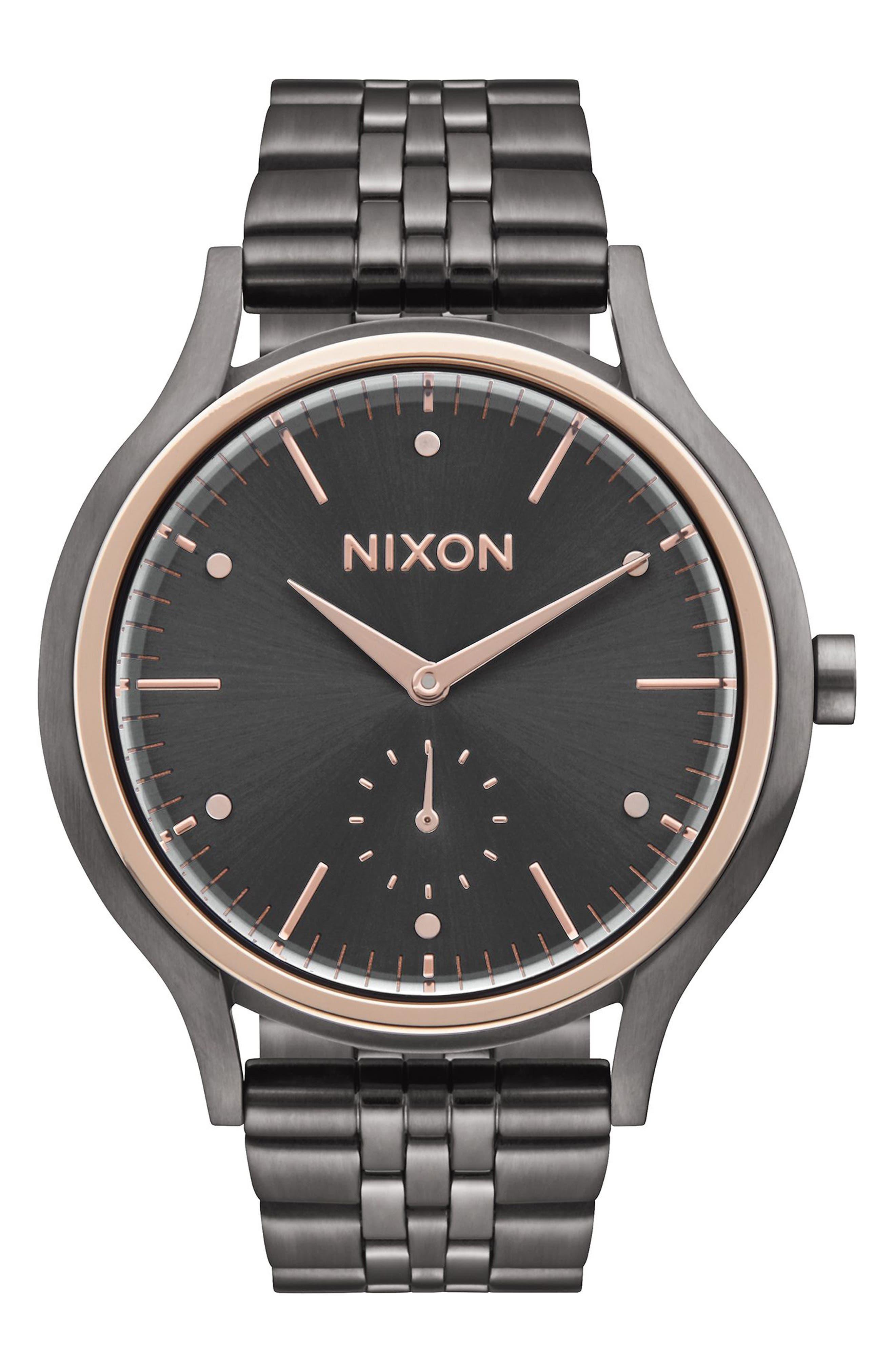 Sala Bracelet Watch, 38mm,                         Main,                         color, Gunmetal/ Rose Gold