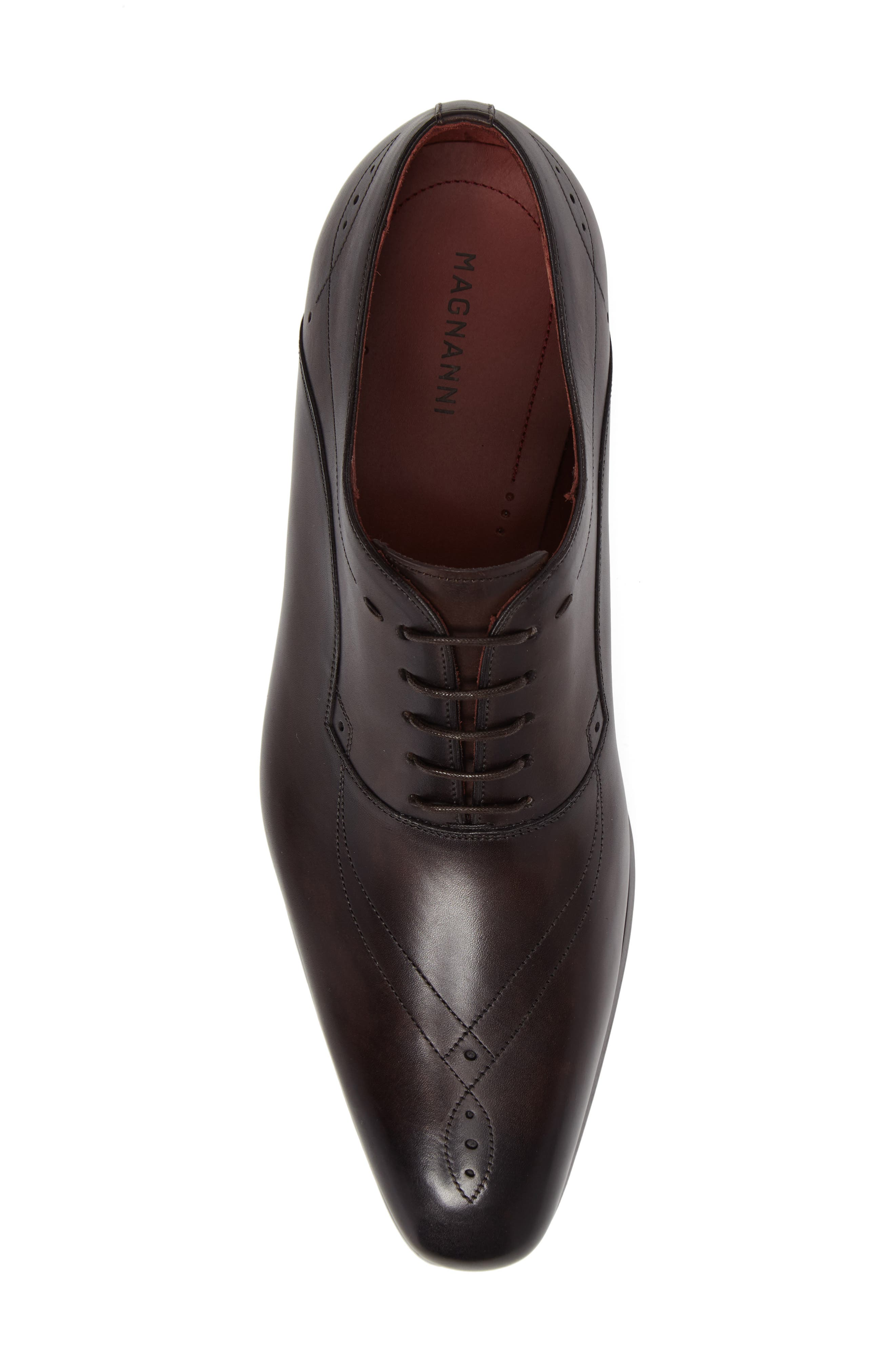 Francisco Plain Toe Oxford,                             Alternate thumbnail 5, color,                             Brown Leather