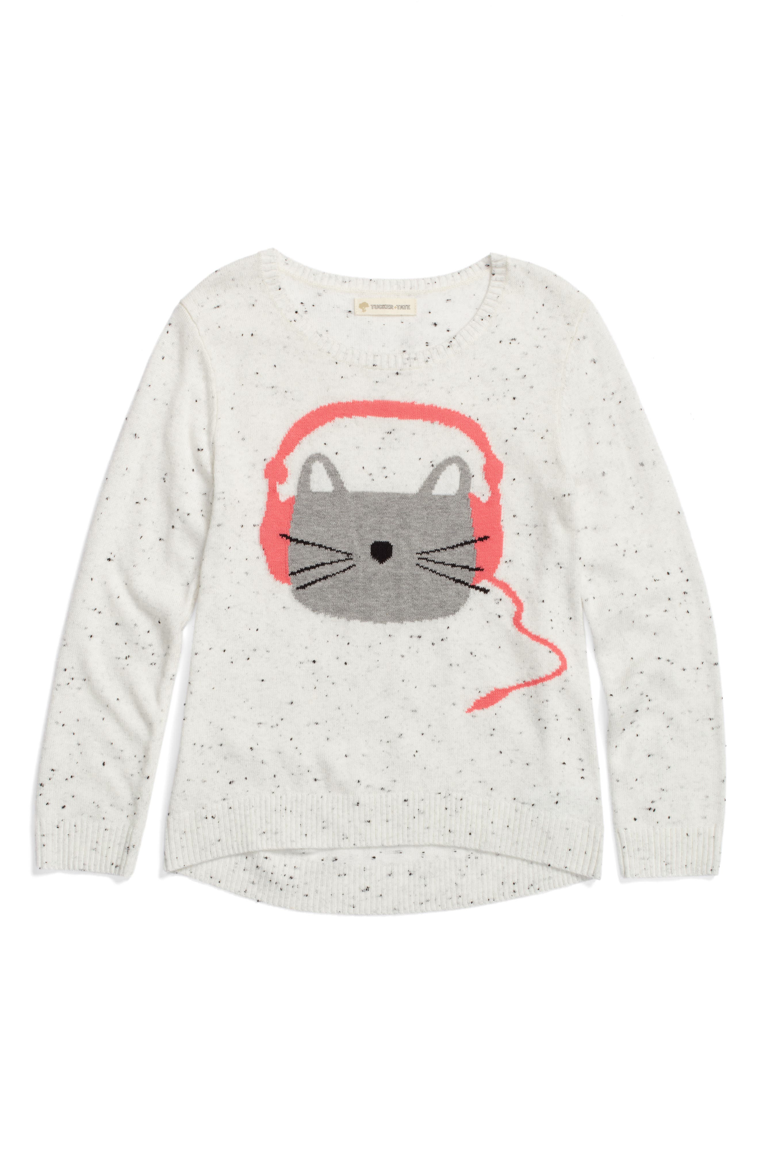 Alternate Image 1 Selected - Tucker + Tate Icon Sweater (Toddler Girls, Little Girls & Big Girls)