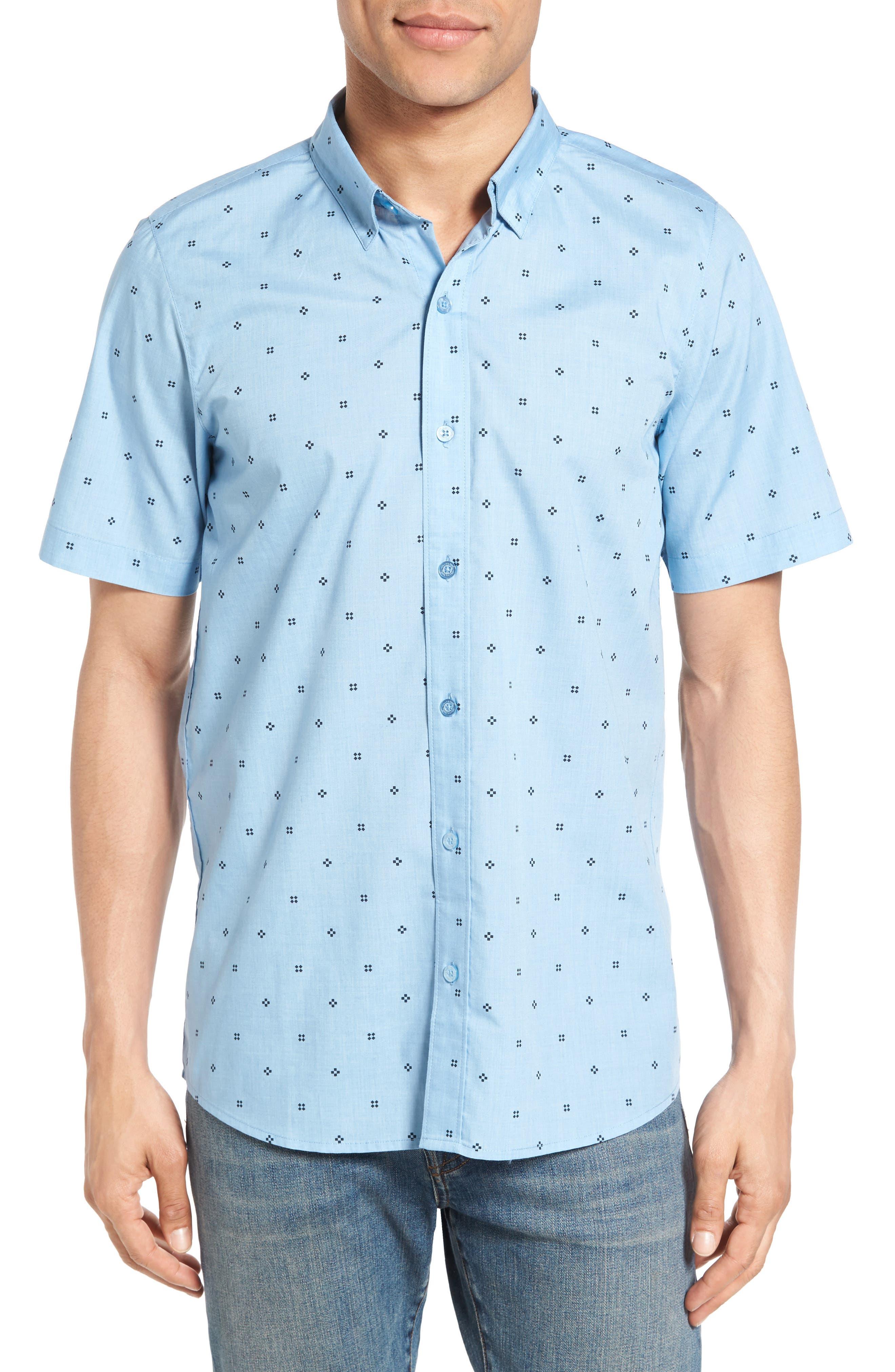 TRAVIS MATHEW Arick Geo Print Short Sleeve Sport Shirt