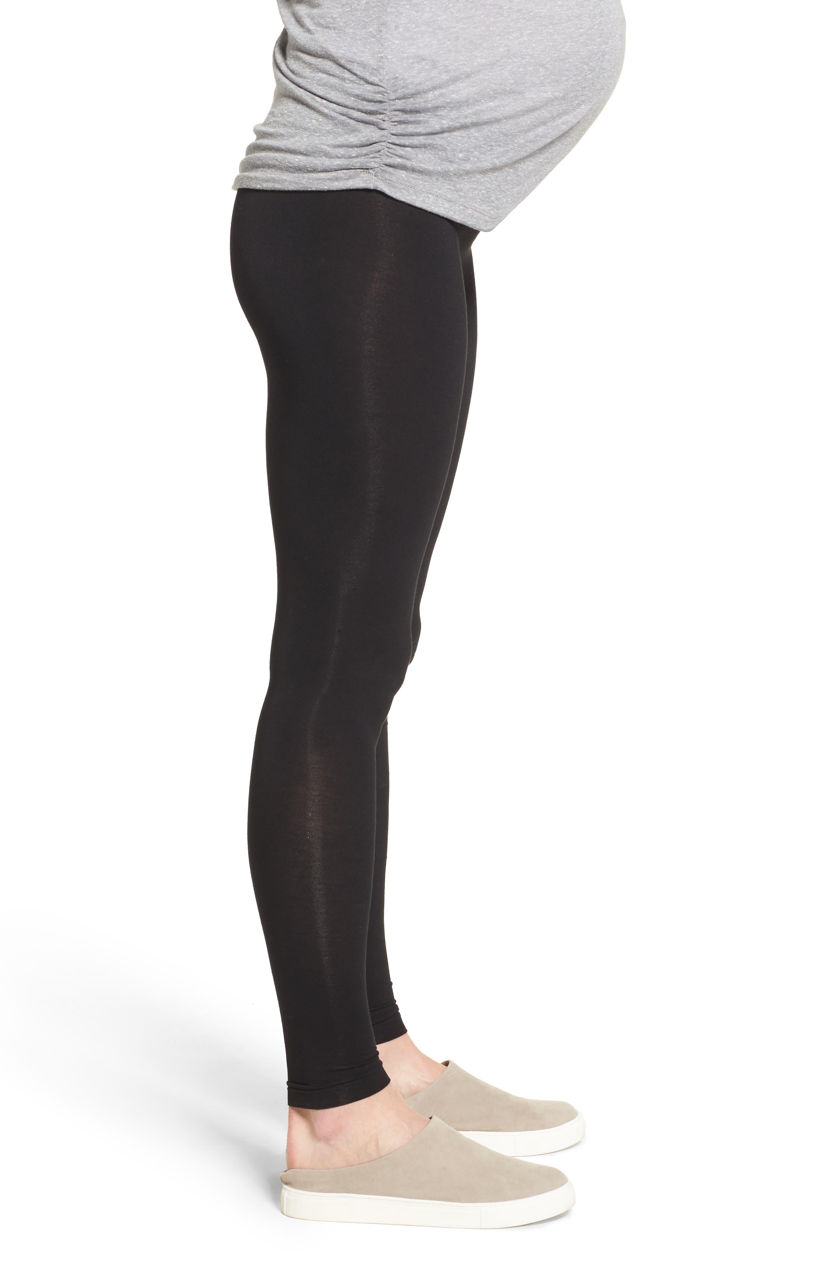 Alternate Image 3  - LAB40 Foldover Waistband Maternity Leggings
