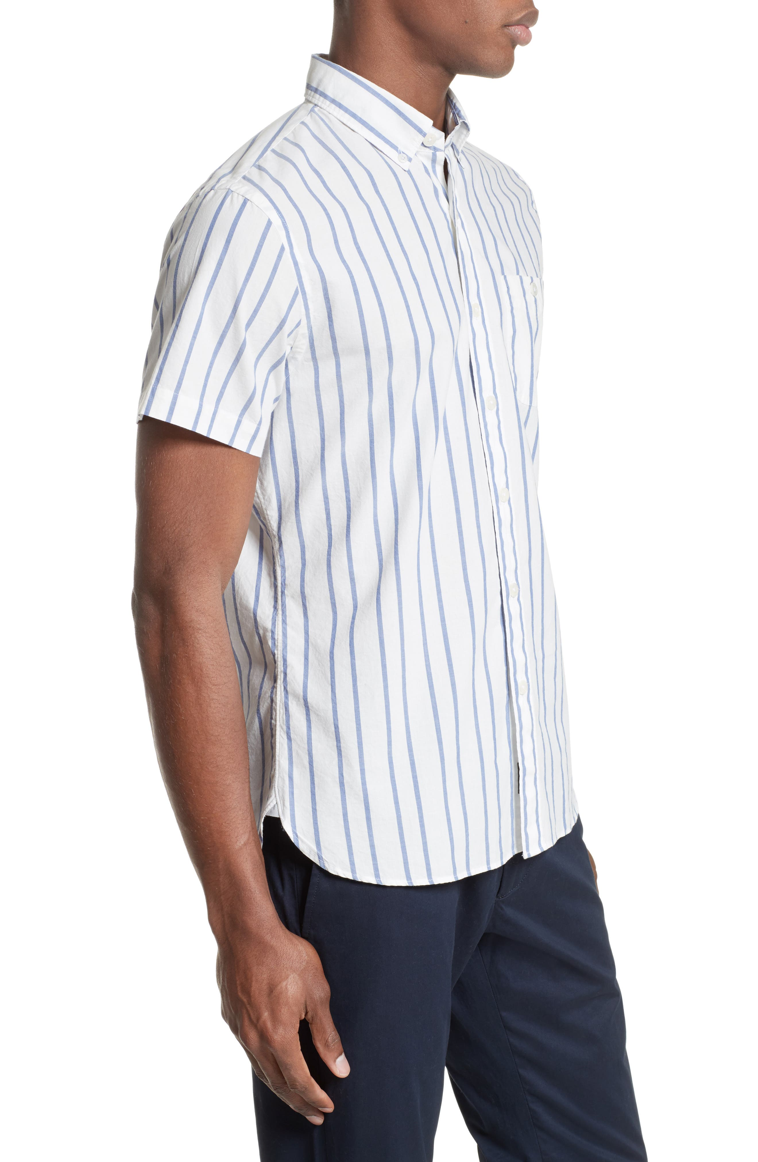 Alternate Image 3  - Todd Snyder Trim Fit Stripe Sport Shirt